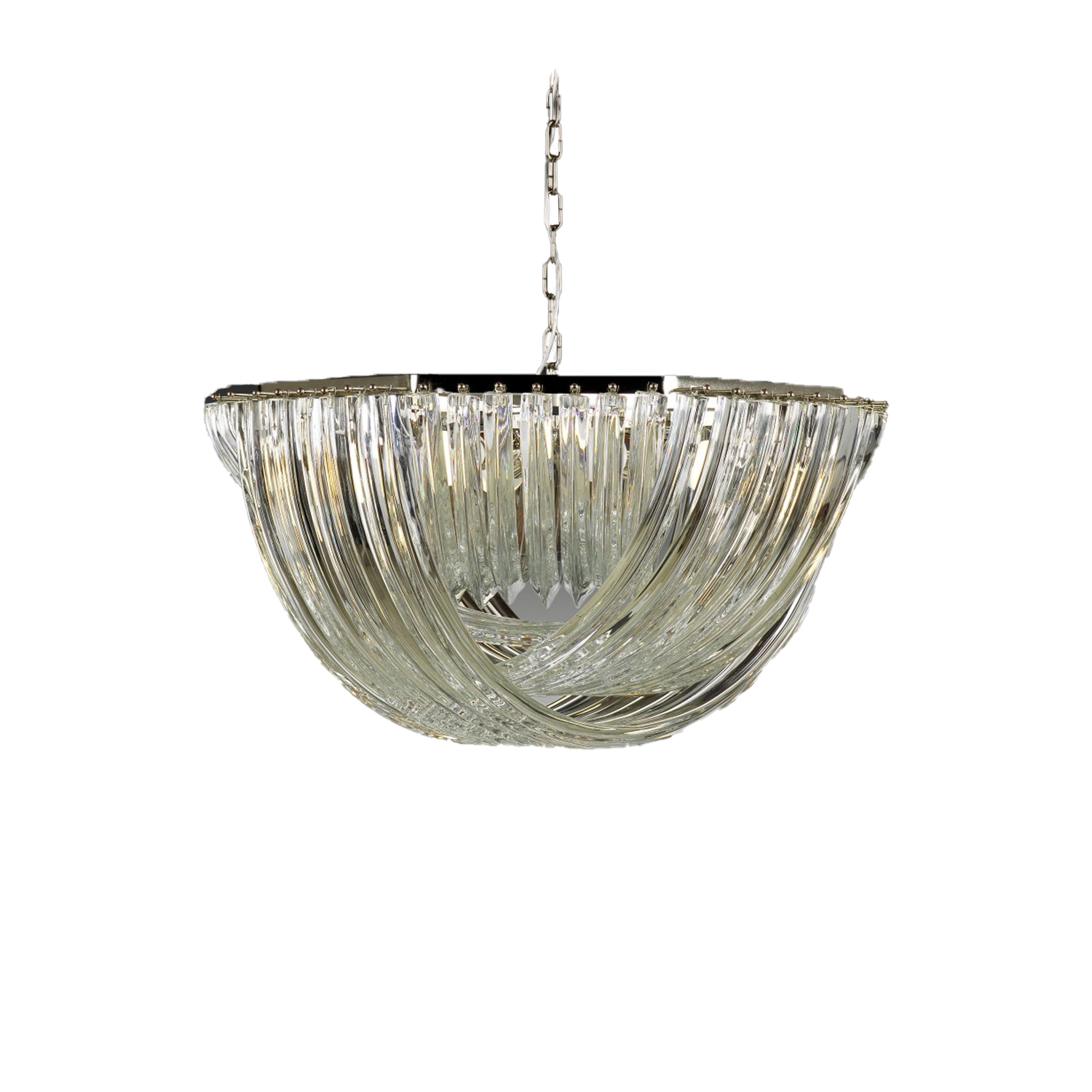 Gran Canal Chandelier Ø80 - <p>This elegant and typical Venetian chandelier is the speciality of our master glass worker Alberto Dona'. Artisans take a little piece of glass and extend it, thanks to its high temperature. The design of this chandelier plays on the repetition of glass elements, creating a refined and fascinating atmosphere.</p>  | Matter of Stuff