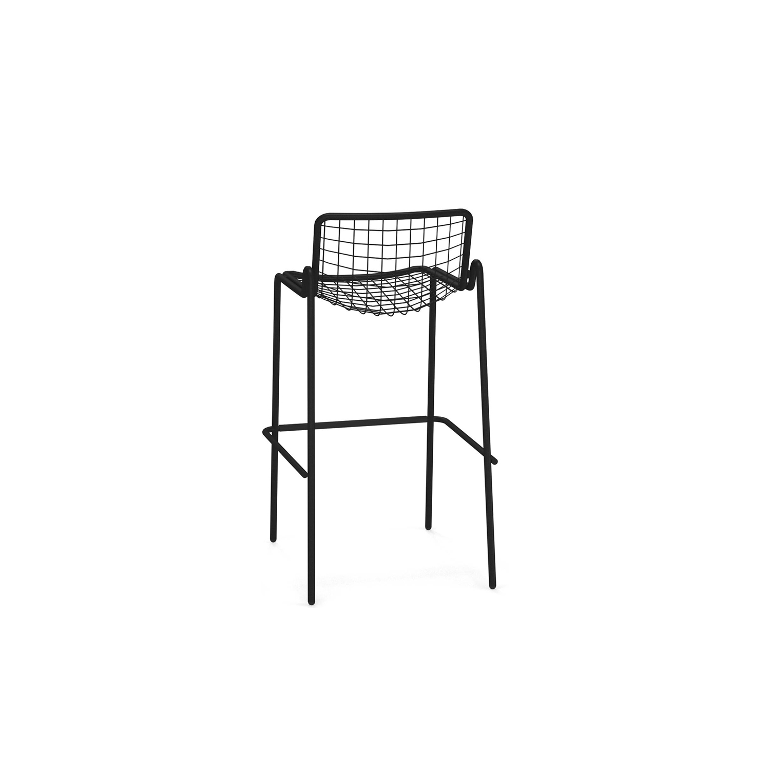 Rio R50 Barstool - Set of 4 - <p>RIO R50 is an expertly crafted re-edition of the historic model Rio of the 70s. RIO R50 has a frame in ASFORM steel tube, high-quality steel with high mechanical performance and high resistance to weight. </p> <p>The manufacturing process creates a strongly characterized sign, a letter R, which is identified in the junction between seat and backrest. All structural weldings are made with Mig technology which gives great resistance to stress and rust risk; meanwhile the net, composed by steel wires, is electro-welded to the frame for a more precise aesthetics. </p> <p>Like all EMU products, a cataphoresis pretreatment is provided and then a thermosetting powder coating treatment, which finally produces a layer of homogeneous paint in terms of thickness with a high level of adherence and resistance. Nylon feet supports make it easy to move and protect the product.</p> <p>RIO R50 is a complete seats collection composed by dining chair and armchair, lounge armchair, swing armchair, stool and coffee table.</p>    Matter of Stuff