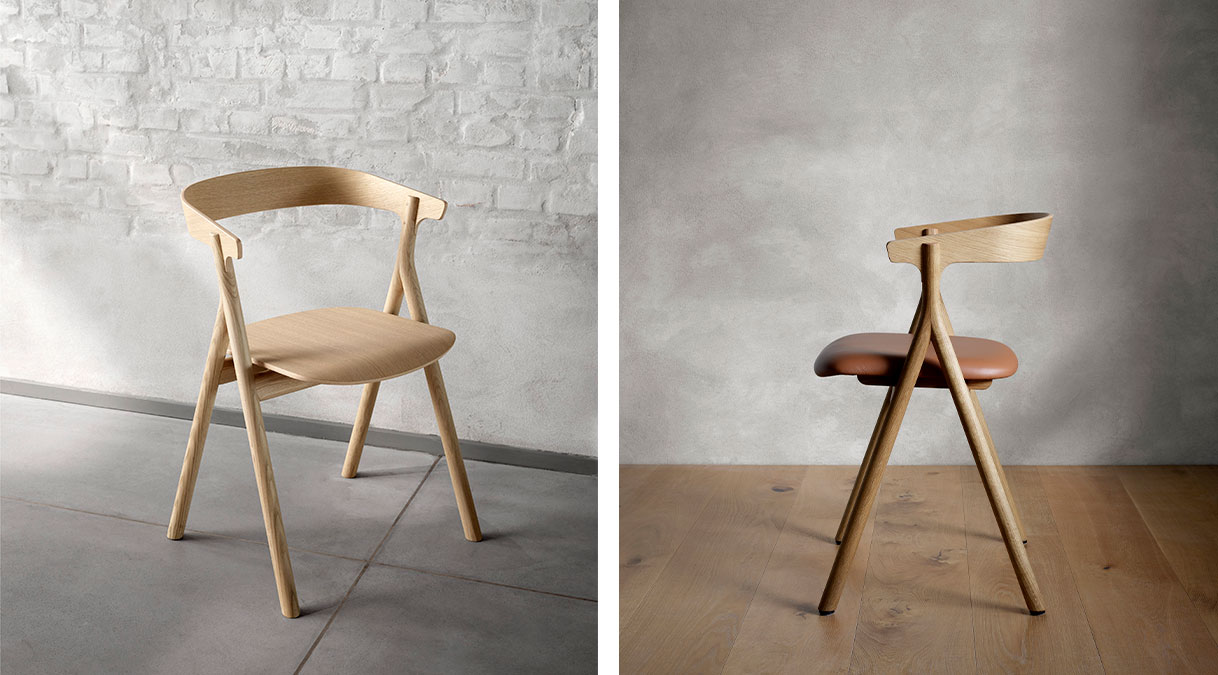 YKSI Chair Leather Seat Upholstered