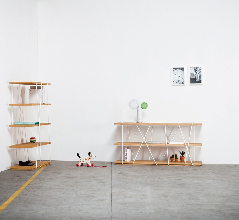 Matassina Bookshelf - Like the yarn from a ball, the fine lines of the bookcase neatly wrap around the shelves. And so Matassa becomes a curious addition with a pleasing balance. | Matter of Stuff