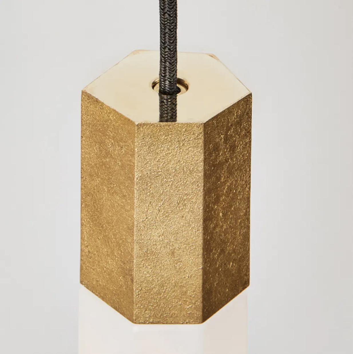Basalt Single Pendant In Brass