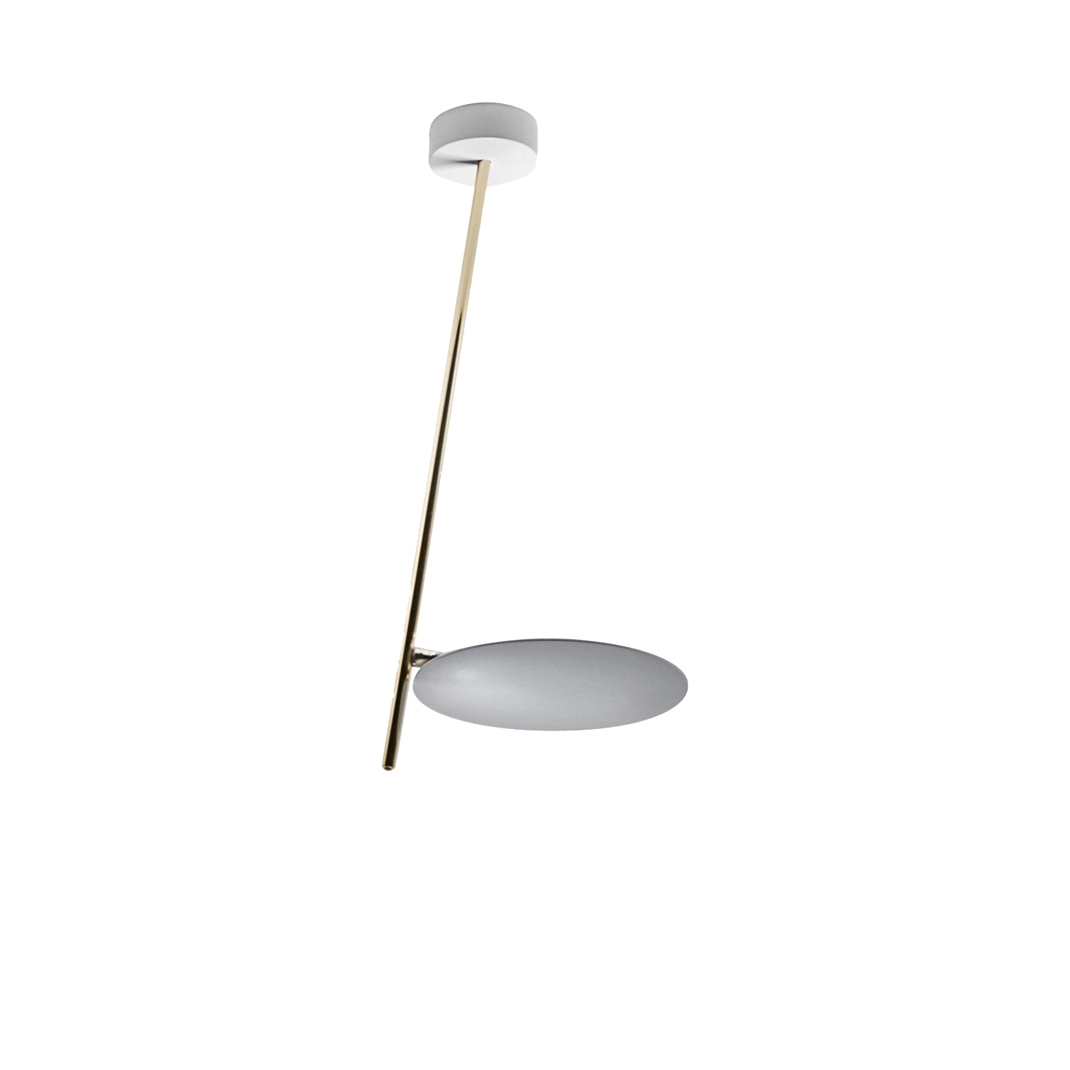 Lederam C1 Ceiling Lamp - Lederam embodies the accuracy of the motion required to draw a line. The warm, softly coloured disks surround a LED module with an ultra-flat shape, which creates thin lamps and suspended forms with curved, sinuous lines. | Matter of Stuff