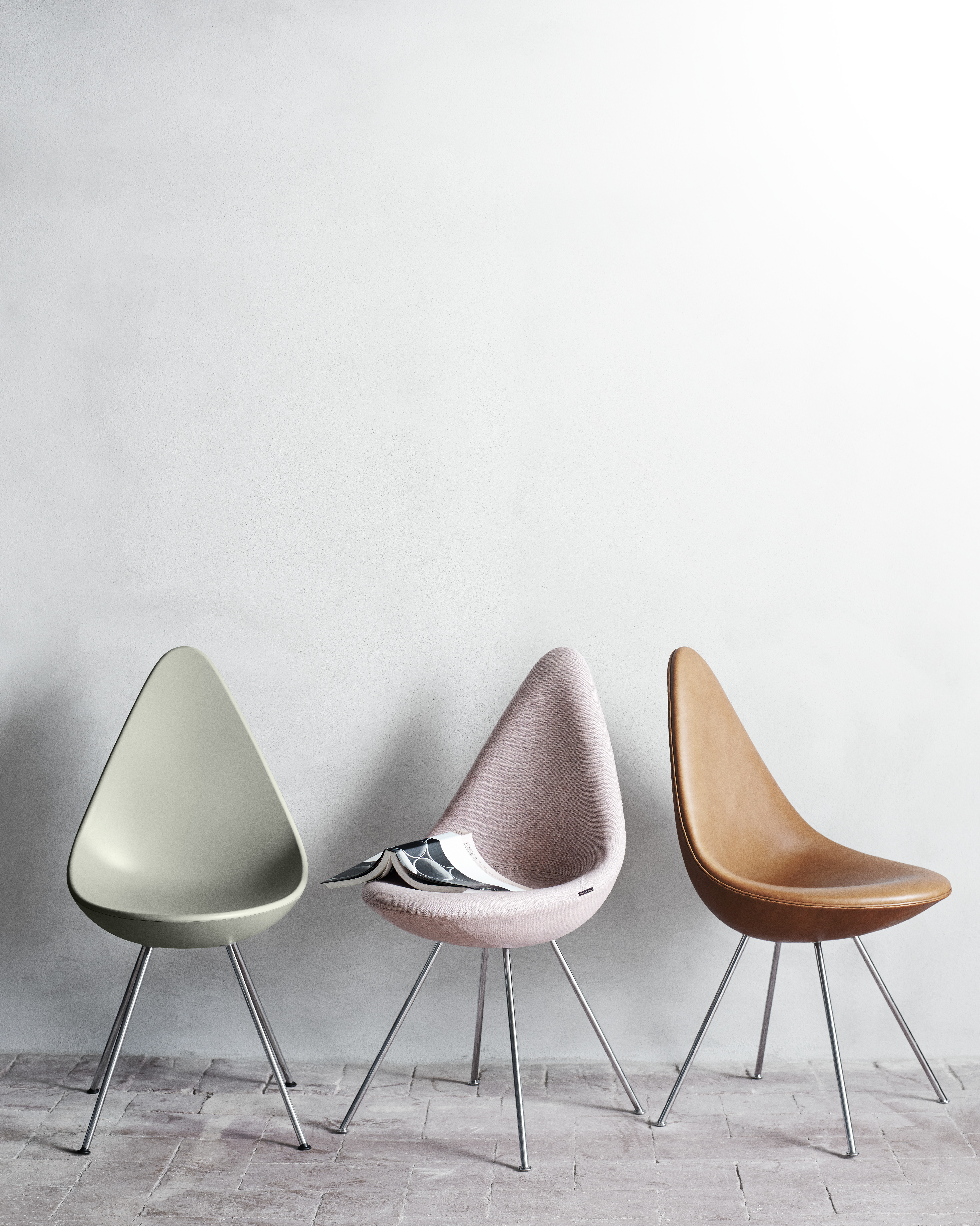 Drop Chair Upholstered - <p>The Drop is a small chair with a big personality and it is as fresh and vibrant as a new design but with a rare heritage. </p>