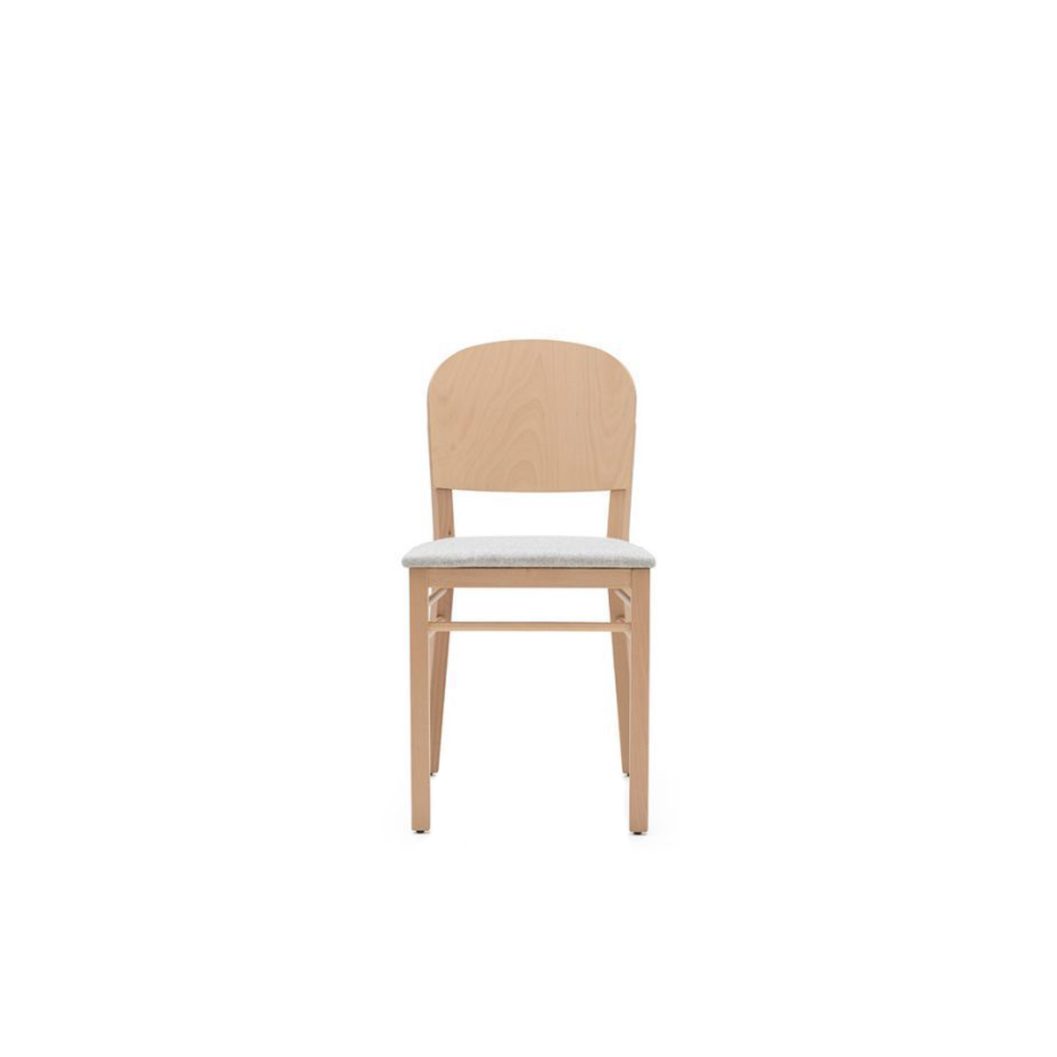 Aloe Upholstered Chair - Offbeat quality. Sweet lines for surprise flashes of beauty. Chair and barstool in solid beech stained or lacquered variant available with upholstered seat.  | Matter of Stuff