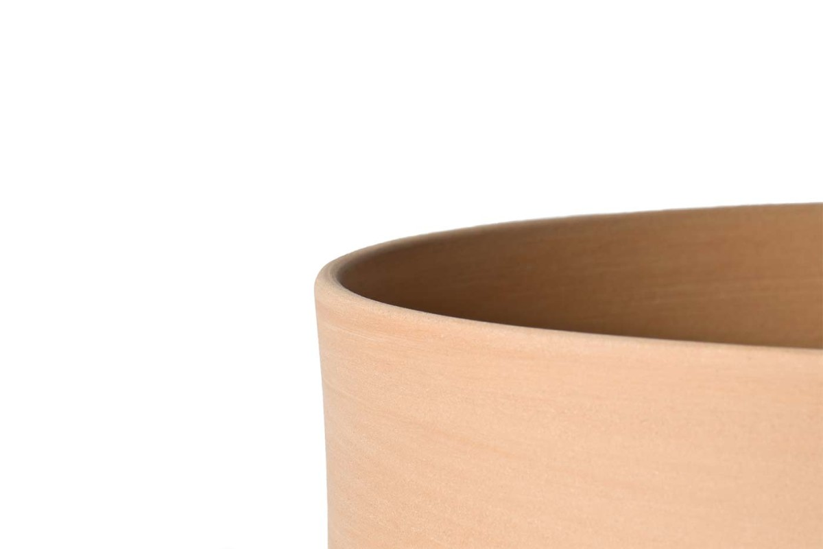 Pila Garden Pot - <p>Erba, Mira and Pila are based on archetypal forms of traditional garden pots that are part of our collective memory. Their clean lines and geometric play of intersecting conical and cylindrical volumes reinvent the typology itself. Designed to be perfectly stackable, they come with a standard flowerpot saucer, the same for all three sizes.</p>    Matter of Stuff