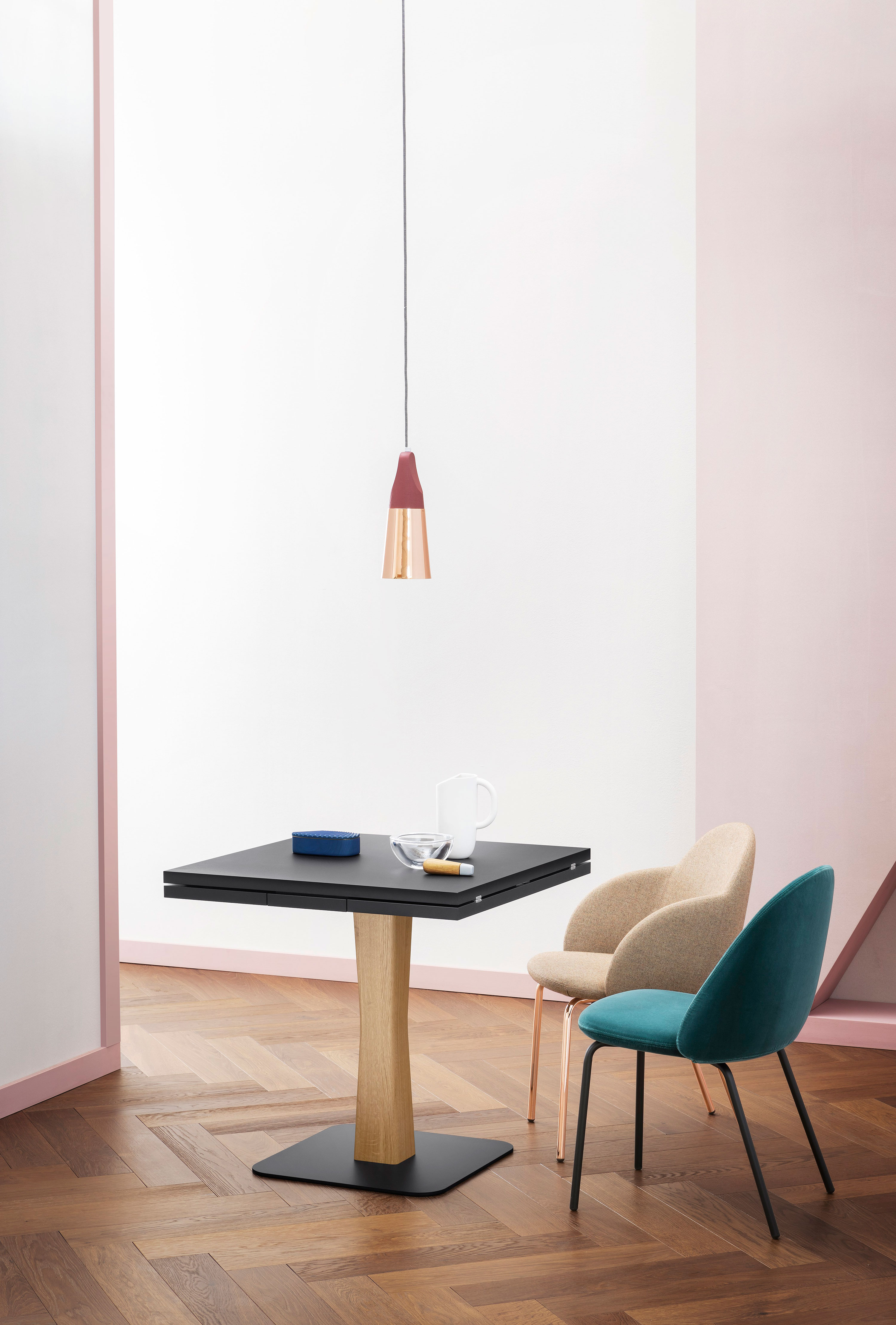 Gualtiero Extendable Table - Gualtiero is designed for smaller, more intimate spaces, from bistros to small apartments, finding the spot for an iconic, practical table. A range of materials, colours and sizes are available in a number of combinations. Prices may vary. Please enquire for full details.    Matter of Stuff