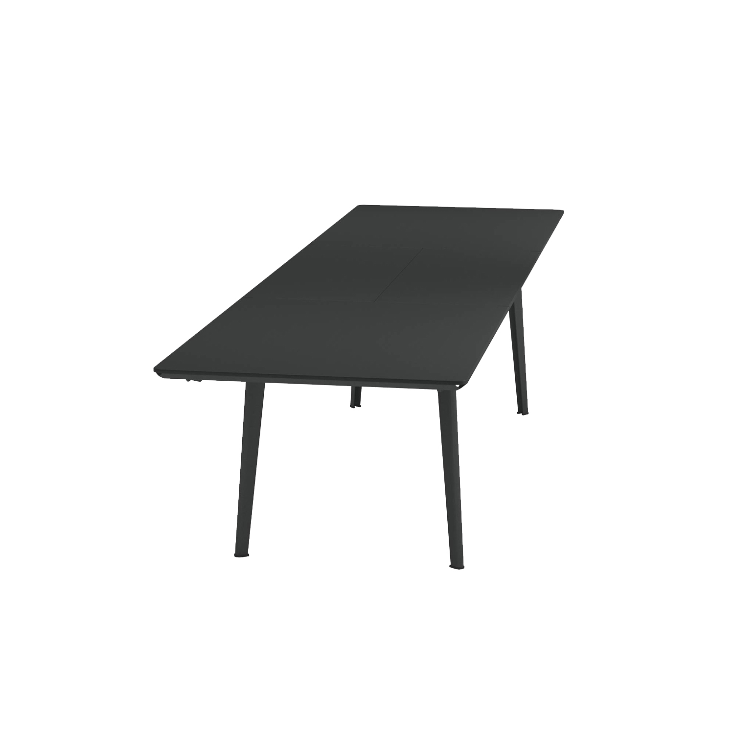 Plus 4 Extensible Table - <p>Plus4 collection is made up of extendible tables: one with sizes 160+110x 90 cm and another one with sizes 220+110x90 cm. The surface is made of press-formed steel, with careful work to the finishes for a better aesthetic effect. Used to allow extensibility of the surface, the rails are specifically designed by EMU for this line. The butterfly opening mechanism of the inner extension makes it easier to open these tables. Comparing to a traditional extendible table, the 110 cm extension allows adding 4 seats instead of 2, increasing the possibility of use for this product. Furthermore, the extension of the table is designed in a way that all the seats fit easily without any impediment. There are two designs available for the legs: round and conical.</p>  | Matter of Stuff