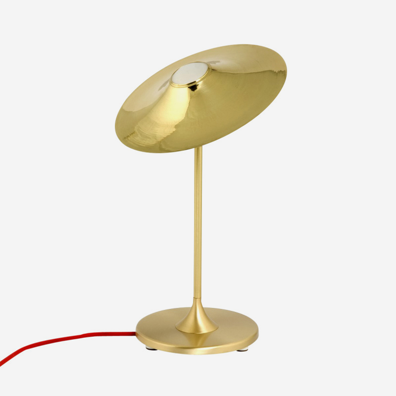 Skew Brass Table Lamp - <p>A nostalgic design echoing sounds of the past, the Intueri Light Turbaya Table/Wall Lamp contemporizes the look of a gramophone. The Turbaya has a shape like a gramophone and it can remind others about the old days when this was the only thing that we could listen music on. Turbaya is a multi-function light. Wall light, table light, two functions in one product.</p>  | Matter of Stuff
