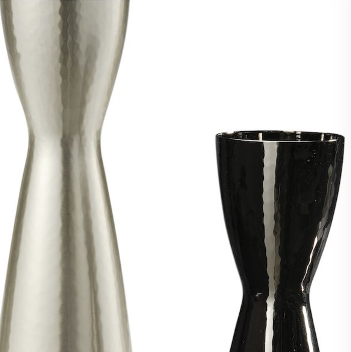 Omino Couple Vase - This couple of vases is a special edition in 50 numbered pairs to celebrate the 50th anniversary of Zanetto.  The satin silver finish and the titanium make this re-edition contemporary and elegant, demonstrating the innovative spirit of Zanetto workshop. | Matter of Stuff