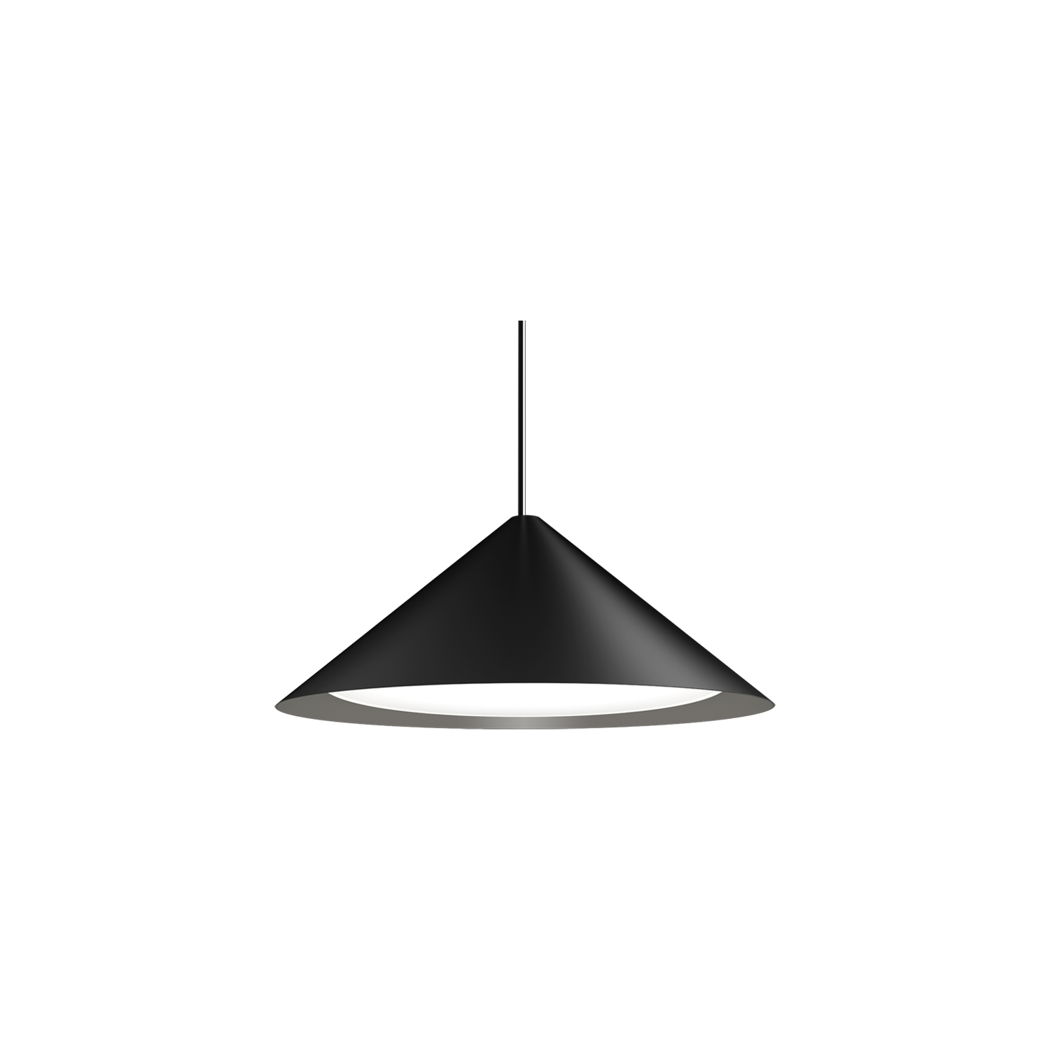 Keglen Pendant Lamp - The pendants distinctive conical shades each have a built-in curved opal insert. This ensures a both attractive and glare-free downward light. Each version of the shade provides its own diffusion of light while the white inner side ensures that its light is reflected flawlessly. A gentle light is also emitted upwards through a uniform, discreet opening in the top of the shades which adds to the perfect ambiance.  Cable length is 3m. | Matter of Stuff