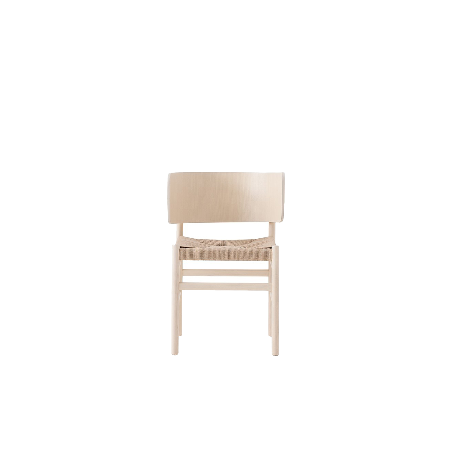 Fratina Chair - This chair, designed by Emilio Nanni, is a modern twist on a classic design. The slightly curved back gives support while the choice of seats mean that you can choose the best material to suit your space. It comes in either Stained or Laquered Ashwood and the seat can be upholstered, with rope weave, hide, or straps.    Fratina is Red Dot Design Award 2016 winner | Matter of Stuff