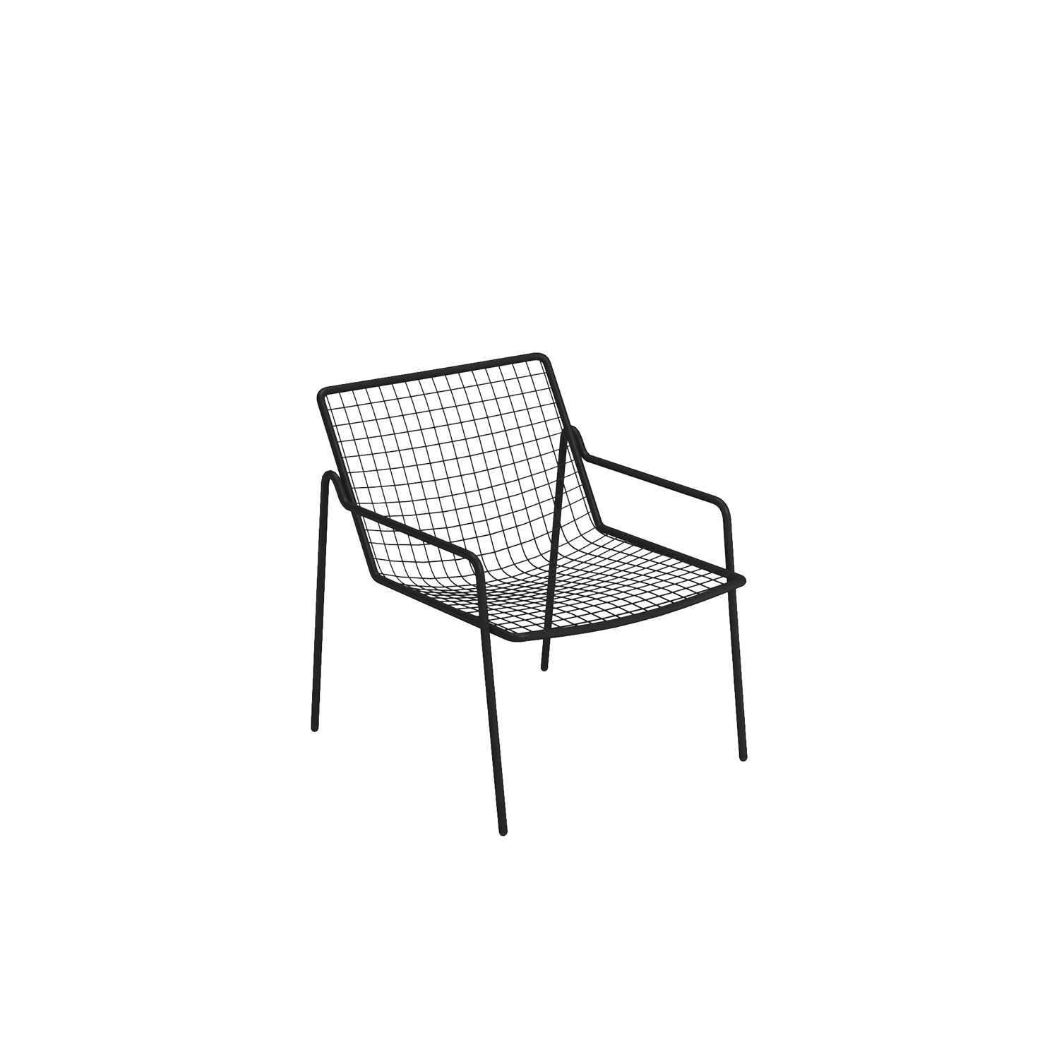 Rio R50 Lounge Chair - Set of 2 - RIO R50 is an expertly crafted re-edition of the historic model Rio of the 70s. RIO R50 has a frame in ASFORM steel tube, high-quality steel with high mechanical performance and high resistance to weight. 