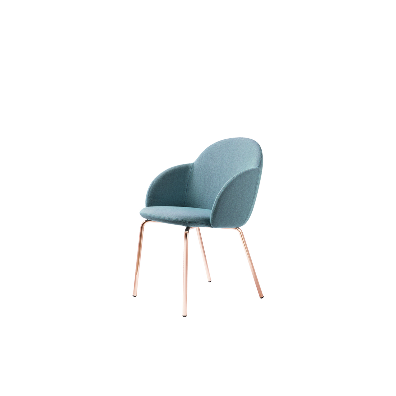 Iola Armchair - Iola shows off design with an international approach, focusing on the ergonomics of the form, ensuring a careful look, one with character. We have given the body the shape of a shell, producing it in expanded polyurethane. Then, on the advice of the hardest to please, we pulled the wings and then the two large arms came out. Iola hints at fashion but comes across as a modern classic. Chair with injected flame-retardant polyurethane foam seat and back upholstered in the listed fabrics. Legs are made in iron rebar with lacquered finish in anthracite, black, white or copper. The body is packed separately from the base.