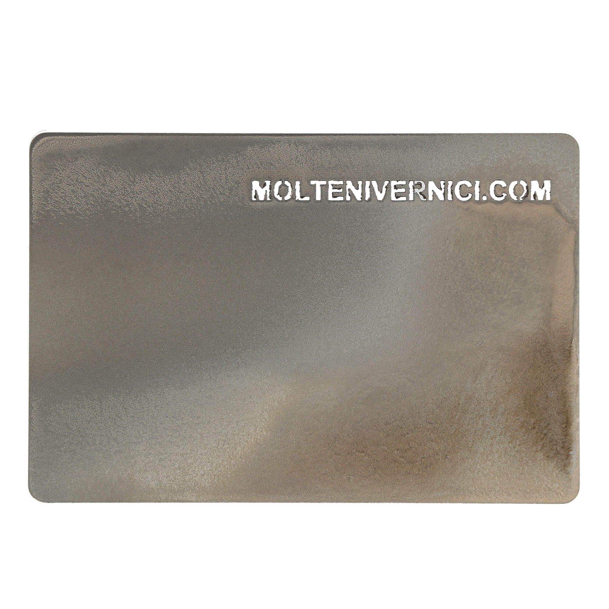 Materico Bronzo Due Oxidised Effect Varnish - 2k two-component varnish able to give every support (prepared with specific primers) made on iron, pickled iron, zinc iron, steel, stainless steel, zama, brass, bronze, aluminum, aluminum alloys, silver, galvanised metals, ABS, polycarbonate, polyurethane, charged nylon, plexiglass, complex plastic polymers, fiberglass, MDF and wood, composite materials, stones, the aspect of the natural metal oxidations.