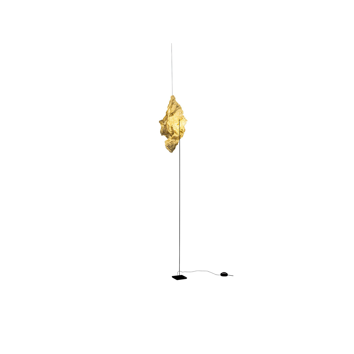 Shadow Floor Lamp - Shadow is a piece of metal cloth suspended in space and illuminated by a LED. Darkness surrounds the shadow of the cloth. Sheer simplicity. | Matter of Stuff