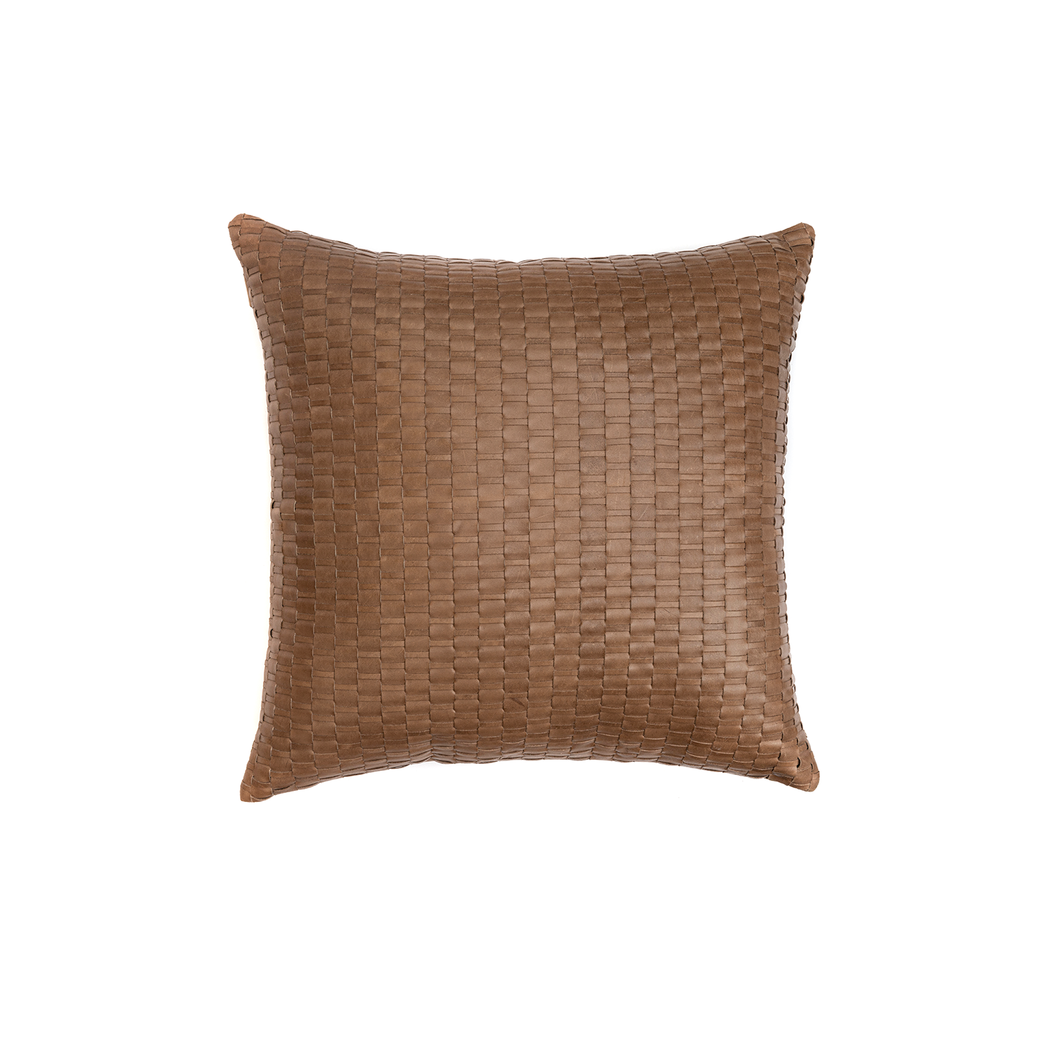Maia Woven Leather Cushion Square - The Maia Woven Leather Cushion is designed to complement an ambient with a natural and sophisticated feeling. This cushion style is available in pleated leather or pleated suede leather. Elisa Atheniense woven handmade leather cushions are specially manufactured in Brazil using an exclusive treated leather that brings the soft feel touch to every single piece.   The front panel is handwoven in leather and the back panel is 100% Pes, made in Brazil.  The inner cushion is available in Hollow Fibre and European Duck Feathers, made in the UK.  Please enquire for more information and see colour chart for reference.   | Matter of Stuff