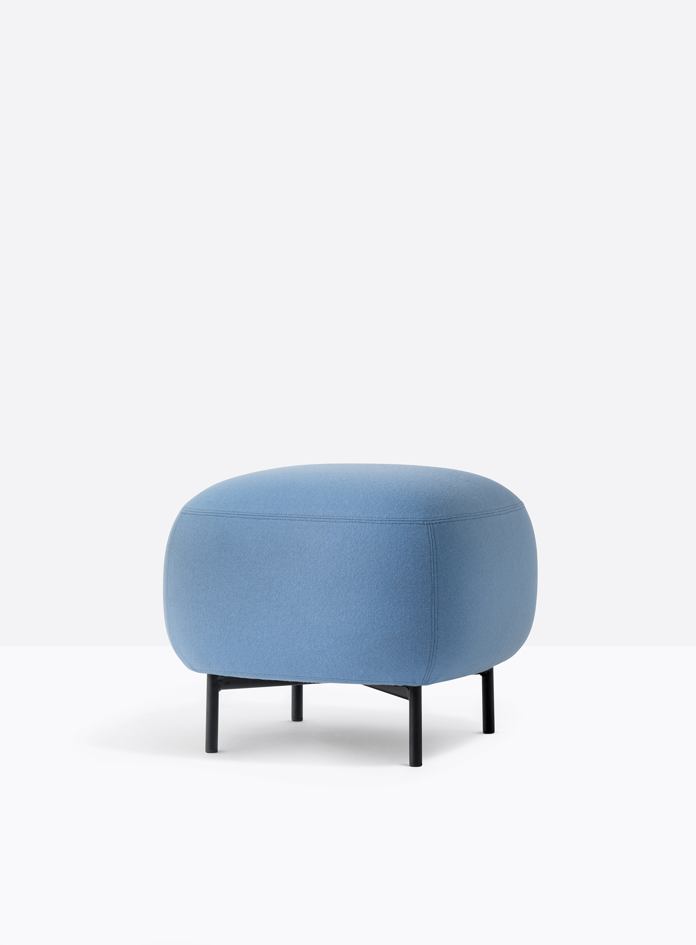 Buddy Pouf - <p>Soft lines and clean design feature Buddy collection. The rounded shape of the pouf with a generous and comfortable upholstery is supported by four thin and rigorous legs Ø20mm. These make the pouf extremely functional and visually lift the volume from the ground. Height 400 - 450 mm.</p> <p>A range of upholstery fabrics, materials and colours are available in a number of combinations. Prices may vary. Please enquire for full details.</p>    Matter of Stuff