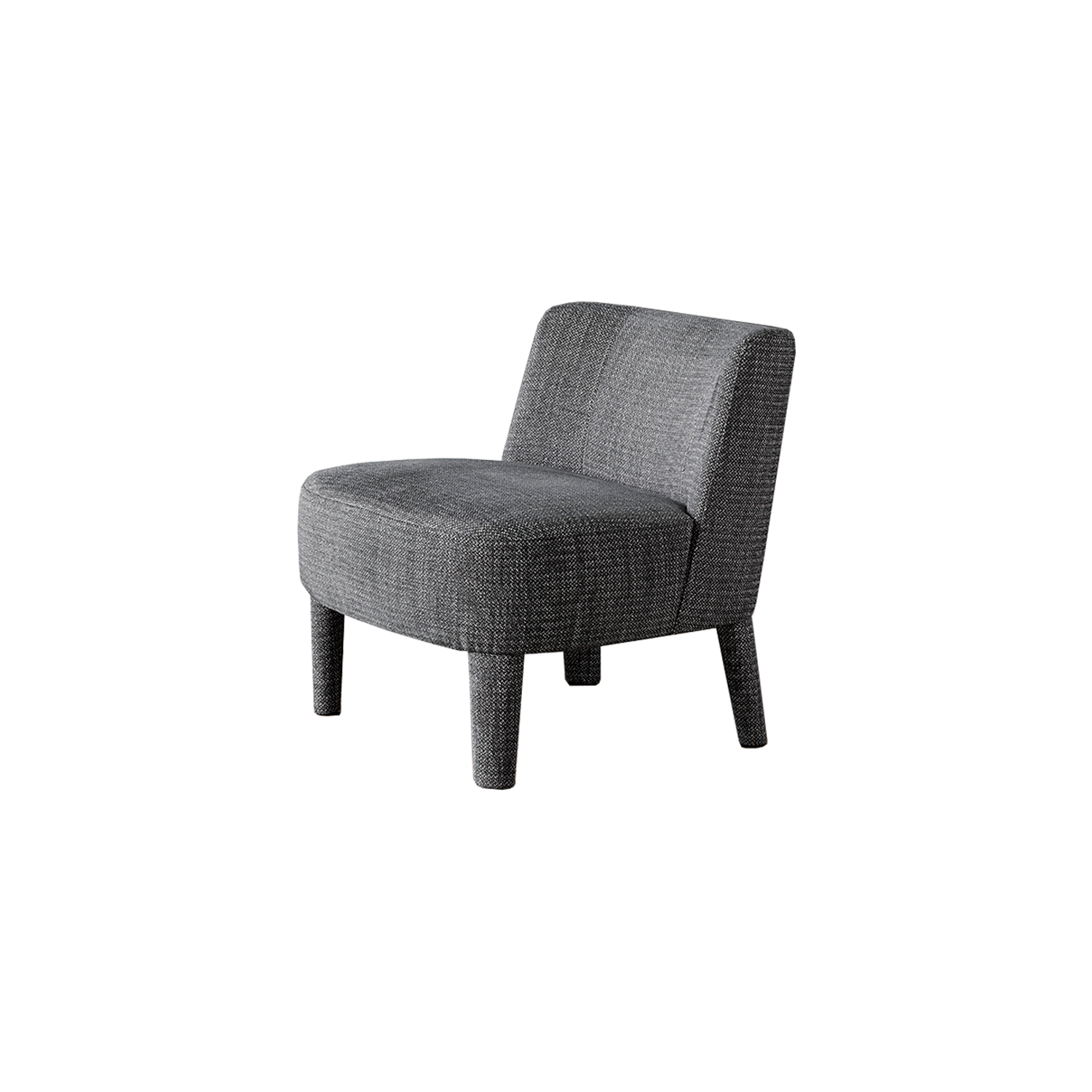 Isabelle Lounge Chair - Perfect for contract, but easily suitable for domestic use, Isabelle small armchair is defined by a mono-materic seat, its small dimensions make it perfect for any interior.  The chair is available in different colours and configurations. Please enquire for more details | Matter of Stuff