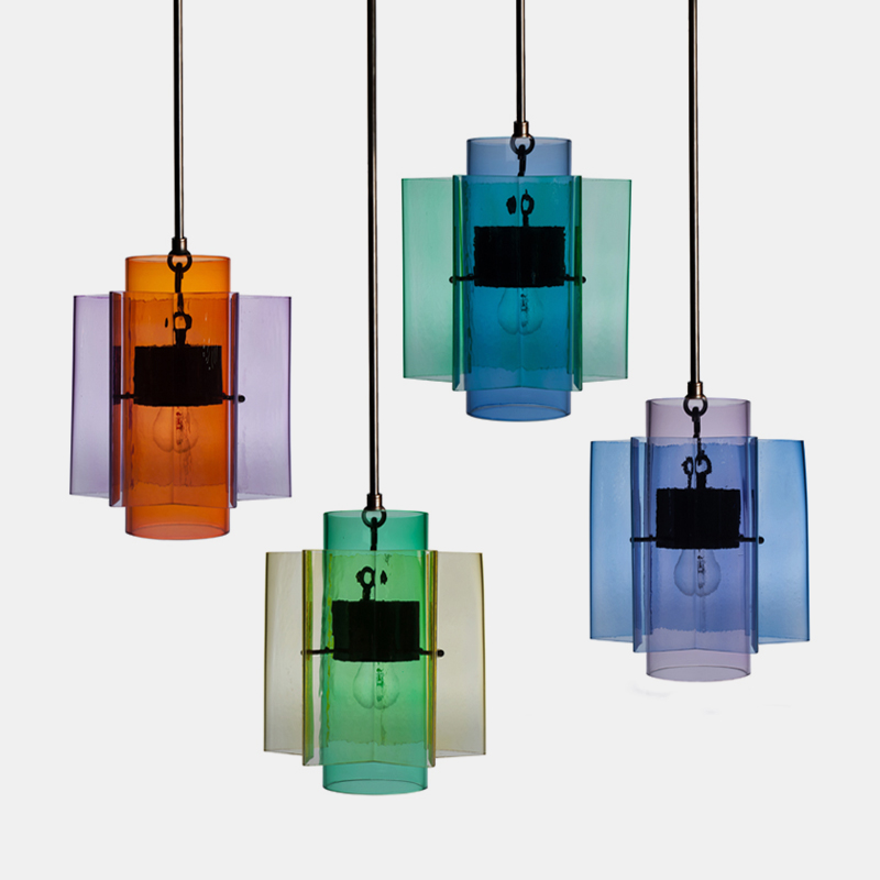Petrona Light - <p>Inspired by childrens' educational toys,the three-coloured complex shape of this pendant lamp is a result ofthe combination of two basic shapes in primary and secondary colours</p>    Matter of Stuff