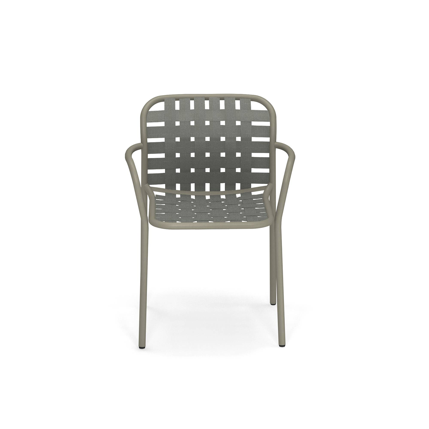 Yard Armchair - Set of 4 - <p>The weave elastic straps, fastened to the sophisticated aluminium frame in an innovative way give life to a collection defined by outstanding, eclectic style and superb comfort, perfectly suitable for outdoor uses. Yard is a complete range of furniture, made up of a chair, an armchair, a stool, fixed and extensible tables, foldable tables, lounge armchairs, coffee tables of various sizes, as sofa and a and sunbed.</p>
