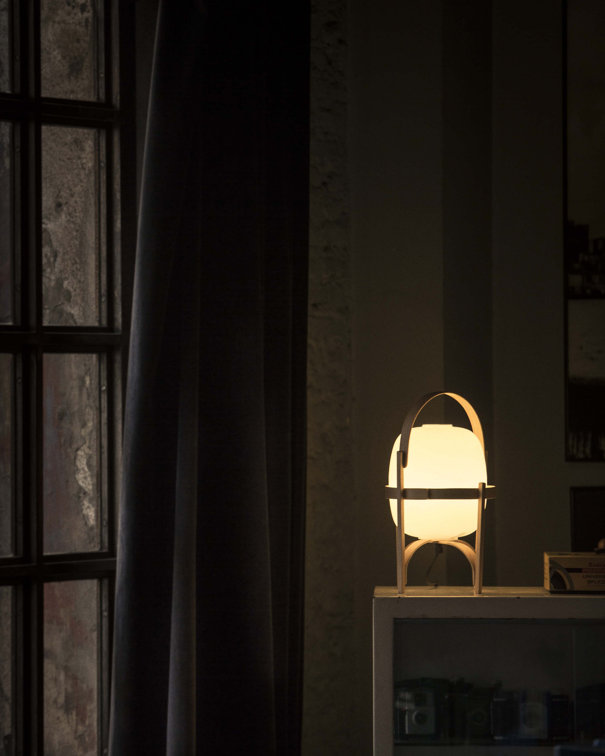 Cestita Table Lamp - <p>Inspired by the traditional lanterns that light up homes along the coast, rural estates and open terraces, Cestita is the little sister of one of the most iconic lamps created by Miguel Milá. It can house an opal glass shade or a white plastic one, making it more child resistant. The size of this lamp object makes it easy to pick up and carry, equally ideal for both tabletops and floors.</p>  | Matter of Stuff