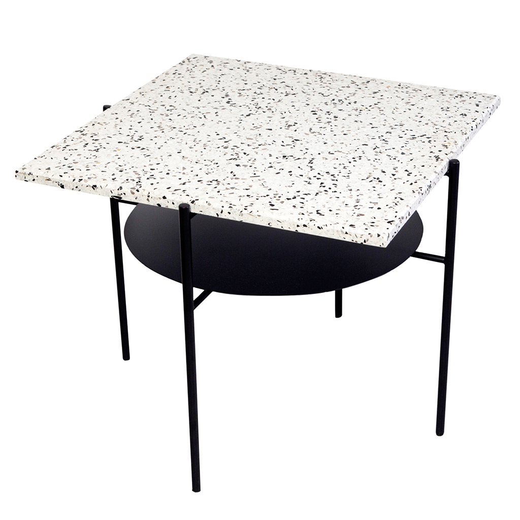 ​Confetti Coffee Table - The Confetti Coffee is a reinterpretation of a classic mid-century coffee table by a Turkish architect & designer Derya Arpac. The design pairs a custom Terrazzo top with a powder coated steel frame. It makes a perfect companion for afternoon cocktails; or - a simple and sturdy side table.  | Matter of Stuff