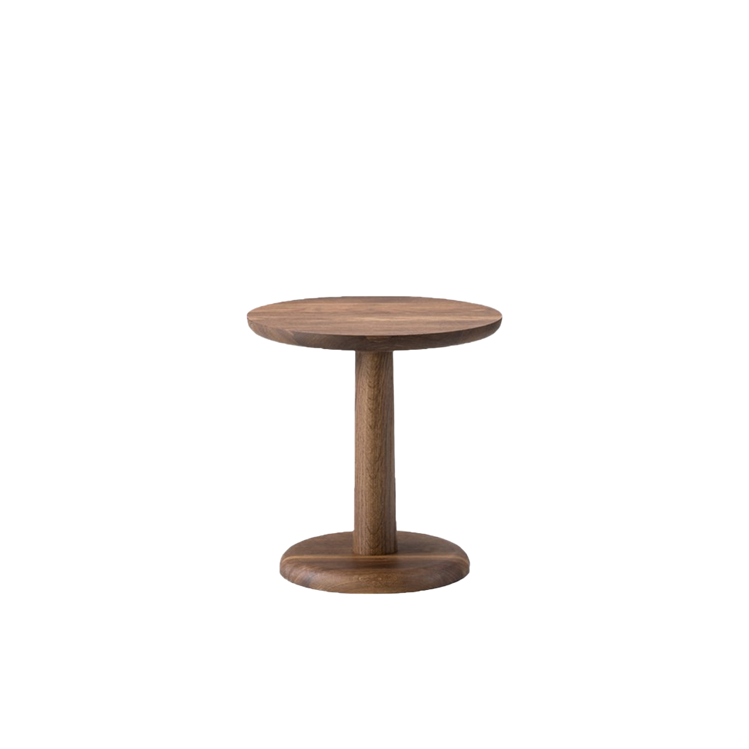 """Pon 1285 Coffee Table - Pon is a series of solid wood side tables in different sizes that are both very stable, versatile and which can be used as either stand-alone furniture or combined in different heights. The smaller Pon tables are modest in size, but large enough for a book, a glass or a tray.  British Jasper Morrison is known for creating simple, functional items fundamental to everyday life. A process that questions what's essential in a design and what's not, based on the ever-changing way we live our lives.   Morrison describes Pon as an alternative to the """"overrated and badly named 'coffee table.'"""" Why should a coffee table take up space, when it could be several small tables placed as you like? Pon gives you options for customising your own table solution.   Circular in shape and modest in size, Pon comes in varying heights which you can place in countless configurations. It's equally appealing as a side table, ideal for a laptop or tablet, a book or magazine, a drink or a snack. Use it as a stand-alone beside a lounge chair or grouped together in a sofa set-up.   Adding to Pon's versatility is its stability. Made of solid oak, Pon was designed with the top, stem and base combined to form one solid entity. A unique feature that opens up opportunities for this endearing, robust design to find a home in hotel lobbies, art galleries, retail spaces, restaurants, bars and the like, as well as domestic settings.  