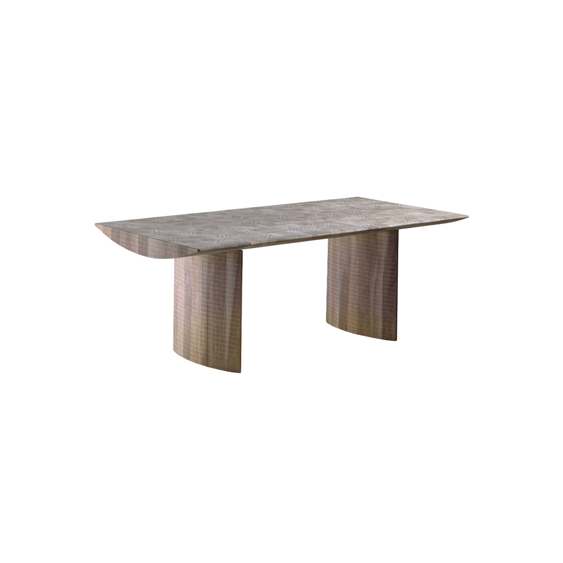 "Athos Dining Table - <p>Athos is a table made as a single block using wood with vertical grain. It is manually finished on all sides using a gouge. The entire manufacturing and finishing process is carried out manually in our workshop. The wood used for this piece is Juglans Regia -common Italian walnut; not dried but ""raw"". This wood belongs to the Latin tradition of furniture-making and features an extremely compact fibre which can, however, be worked without too much difficulty; it is therefore highly suitable for household items. Over time the wood hardens and becomes extremely resistant, and oxidises slightly to take on a progressively warmer amber colour. In this piece, the extreme linearity and lightness of the three planes – two vertical and one horizontal – do not hide the exceptional texture and density of the material.</p>