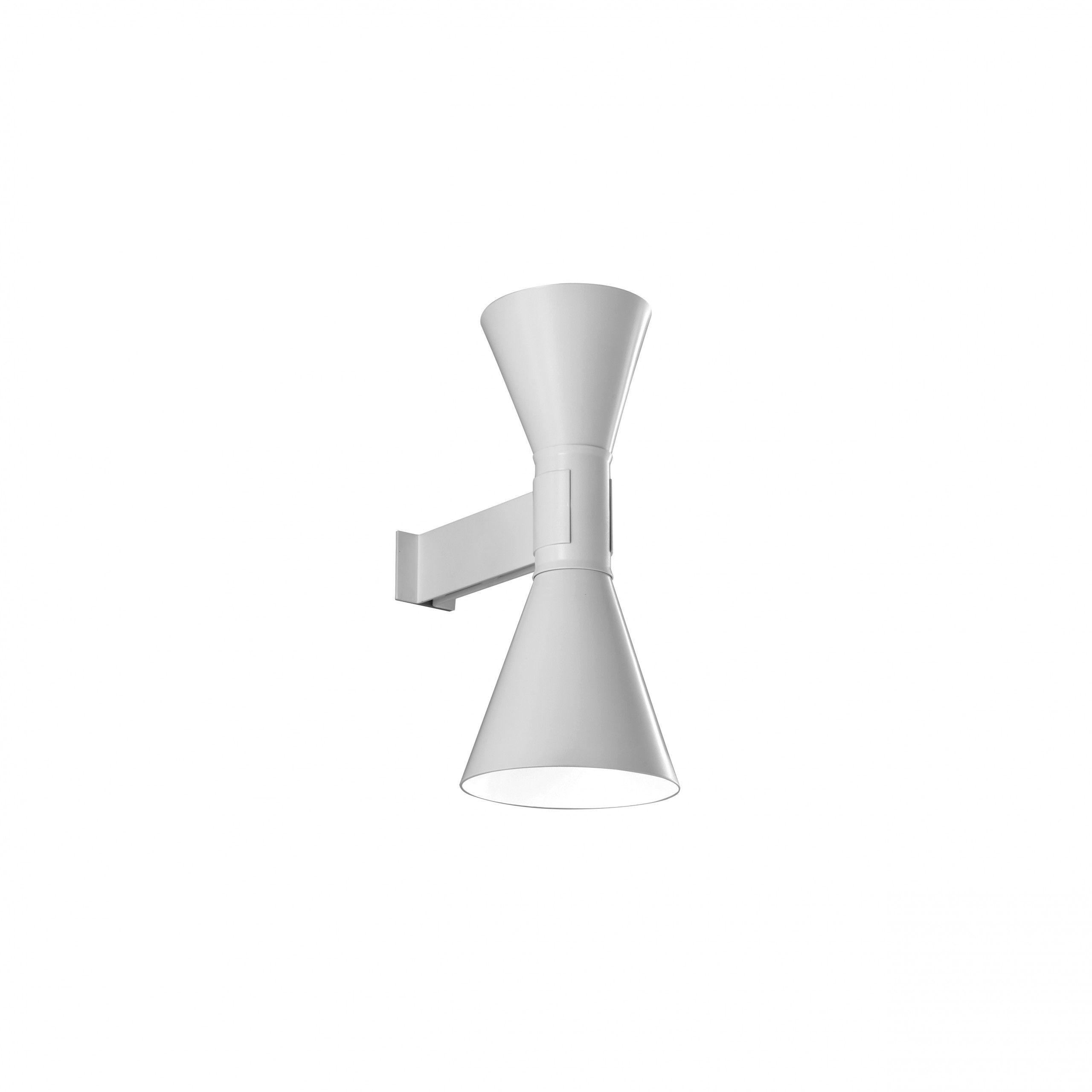 Applique de Marseille - Le Corbusier designed the Applique de Marseille for his Paris apartment at Rue Nungesser et Coli. Wall lamp, double emission, in aluminum painted matt grey, matt white or black, with white internal diffusers.  | Matter of Stuff
