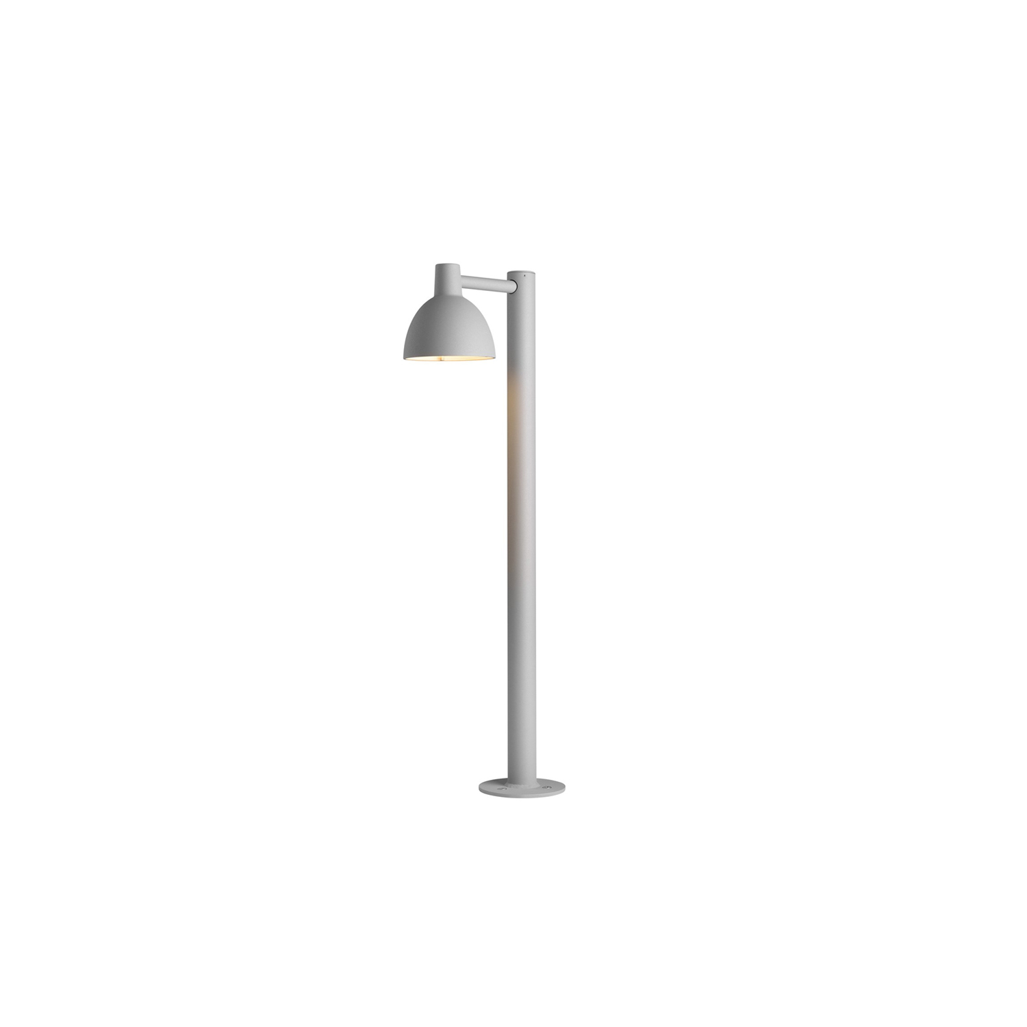 Toldbod 155 Bollard Light - The light is directed 100% downwards and the shade has a matt white painted interior emitting a soft, diffused, comfortable light.   | Matter of Stuff