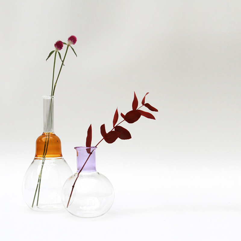 Vitro Vas Grey - <p>An elegant hand blown glass vase in three textures of glass.<br /> The inspiration for the Vitro Vas collection comes from the beauty found in the balance of form and colour in our surroundings. They were designed to compliment their sister collection Virto Lux.</p>  | Matter of Stuff
