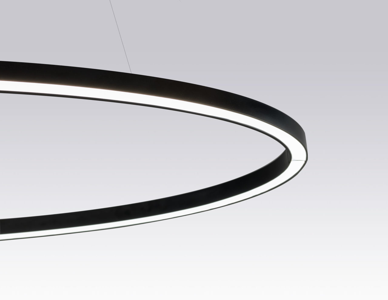 Ellisse Minor Pendant Lamp - <p>Collection of LED pendants, floor/wall lamps available in different versions: major, minor, double, triple and mega provides a direct or indirect diffused light.<br /> In extruded aluminium in different versions: matt lacquered in the finishes, white, black and gold, natural polished and gold polished anodized.<br /> Equipped with an opal diffuser.<br /> The lamps are made using a proprietary extrusion coupling technology.<br /> Ellisse Major is also available as floor or wall versions and is provided with a black marble base or a wall hook accessory.</p>  | Matter of Stuff