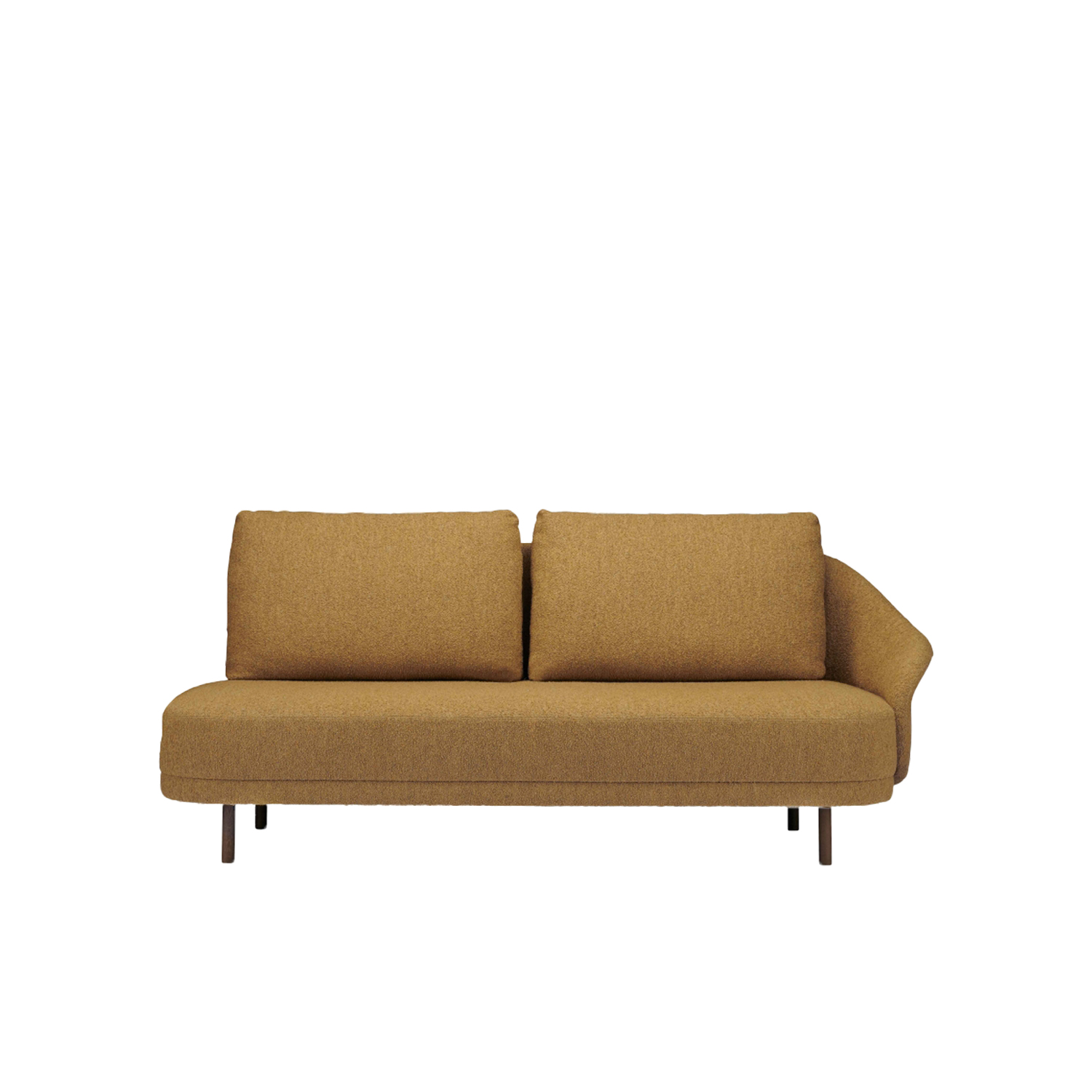 New Wave Open Ended Sofa - New Wave is a minimal sofa design inspired by Danish sofas from the 50's. New Wave's curvy design is reduced into three simple elements - base, back and cushion. Each element is carefully designed according to its function only, making the New Wave a both elegant and highly refined sofa design. The tight shape contrasted by soft cushions, makes New Wave equally at home in an office setting, hotel lobby or a residence.