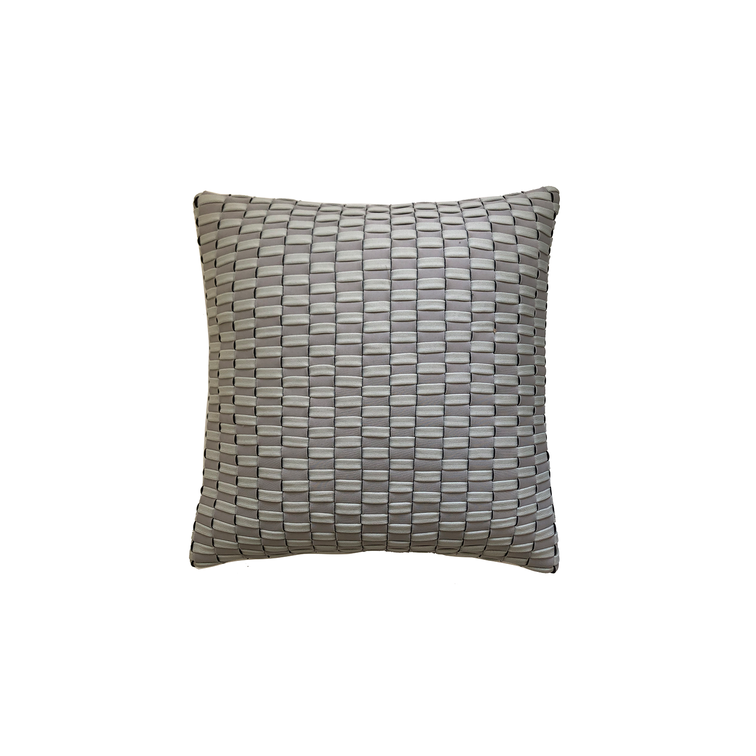 Maia Neo Cushion Square - The Maia Neo Cushion is carefully knitted within a trained community of women that found in their craft a way to provide for their families. The outdoor collection is made with synthetic fibres, resistant to weather exposure. The use of neoprene brings comfort and technology to the cushions.  The front panel is in neoprene combined with hand woven nautical cord, made in Brazil.  The inner cushion is in Hollow Fibre, made in the UK.  Please enquire for more information and see colour chart for reference.  | Matter of Stuff