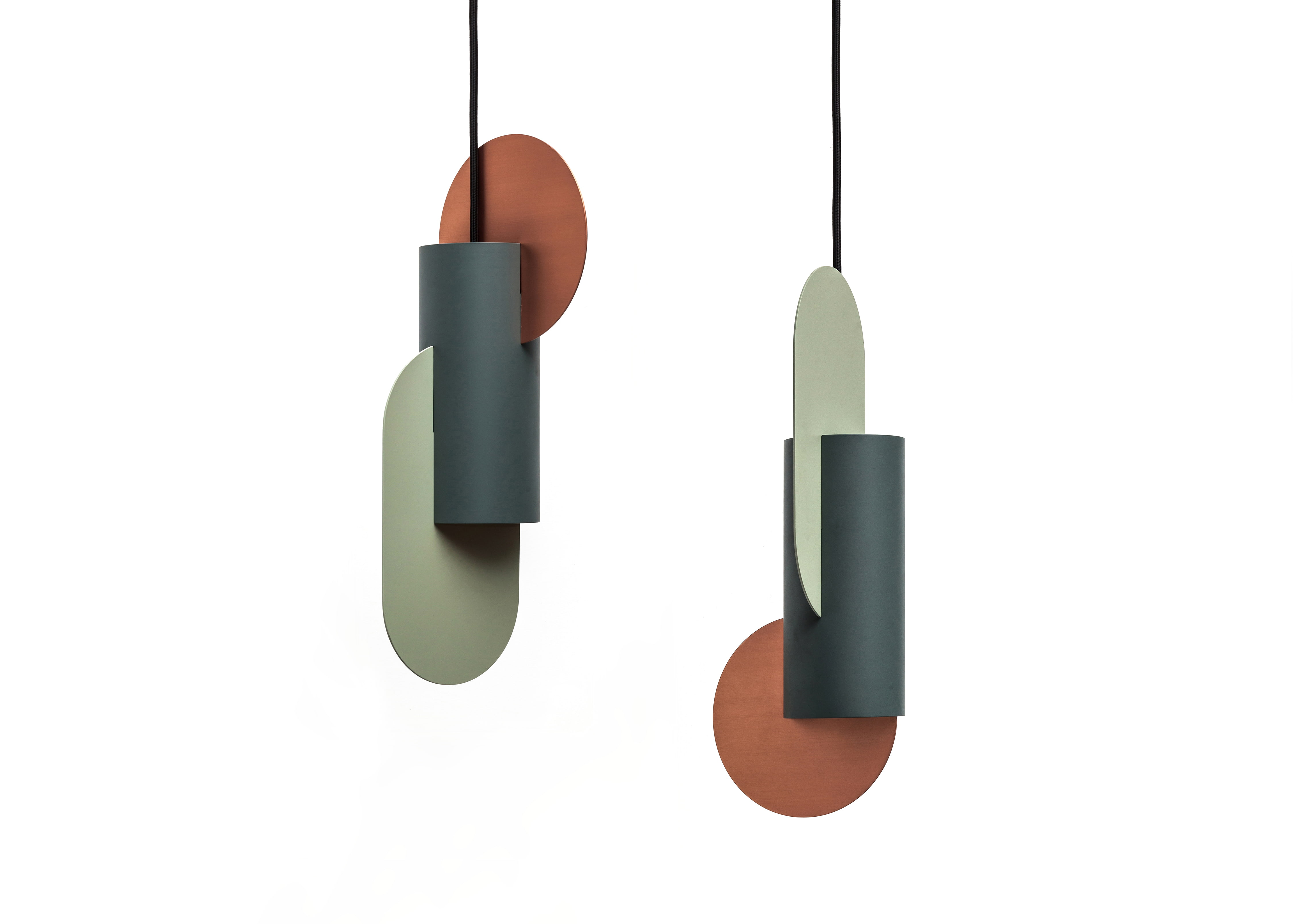 """Suprematic Two Lamp CS1 - <p>""""Suprematic"""" collection of the lamps, inspired by the geometric works of Kazimir Malevich. The collection inspired by the geometric works of the great Suprematist Kazimir Malevich. Suprematism is a modernist movement in the art of the early twentieth century, focused on the basic geometric forms, such as circles, squares, lines and rectangles. The geometric structure of the lamps will always look like small art objects in your house.</p> <p>SPECIFICATION<br /> Electrification: EU version: 2 × LED 10W 