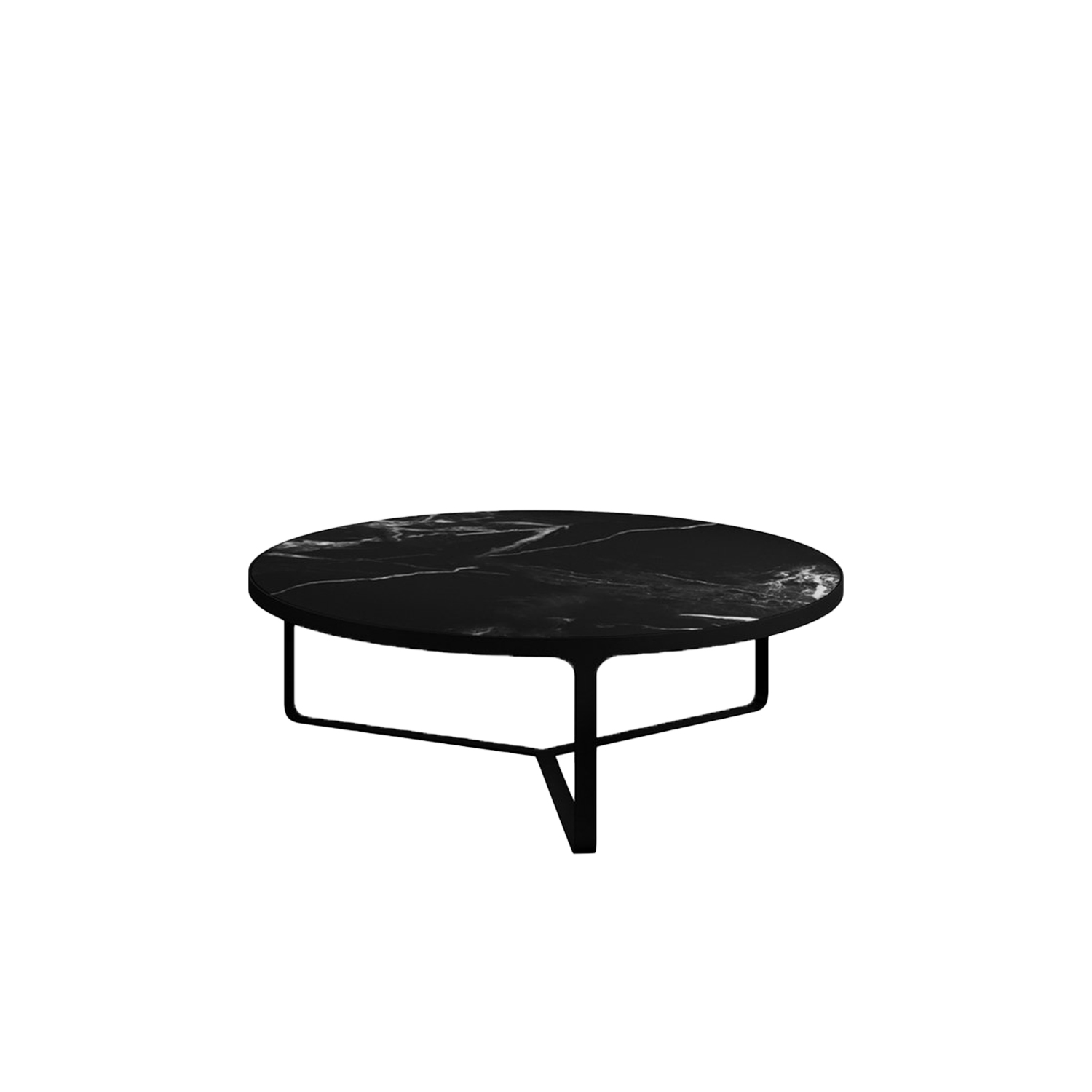 Cage Round Low Table  - Minimalism and elegance are the key features of Cage coffee tables, with their metal base that is both support and frame for the precious marble top. Cage tables can be round or square, high or low, and they accompany and complement all the sofas and armchairs in the Tacchini collections. | Matter of Stuff