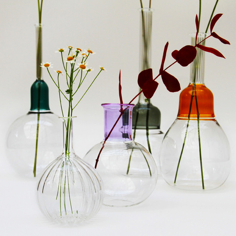 Vitro Vas Clear - <p>An elegant hand blown glass vase in three textures of glass.<br /> The inspiration for the Vitro Vas collection comes from the beauty found in the balance of form and colour in our surroundings. They were designed to compliment their sister collection Virto Lux.</p>  | Matter of Stuff