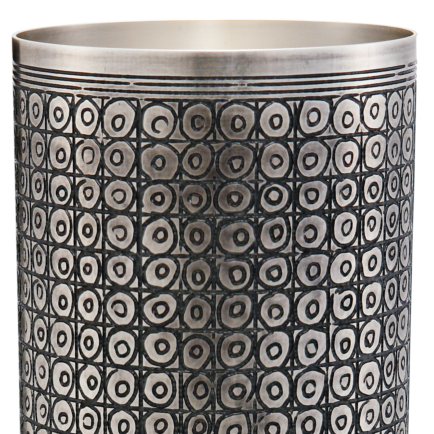 Sumer Vase - Unique vase crafted in a silver-plated alloy has a beautiful pattern etched into it which is the product of much meticulous work in order to achieve the intricate texture and design. | Matter of Stuff