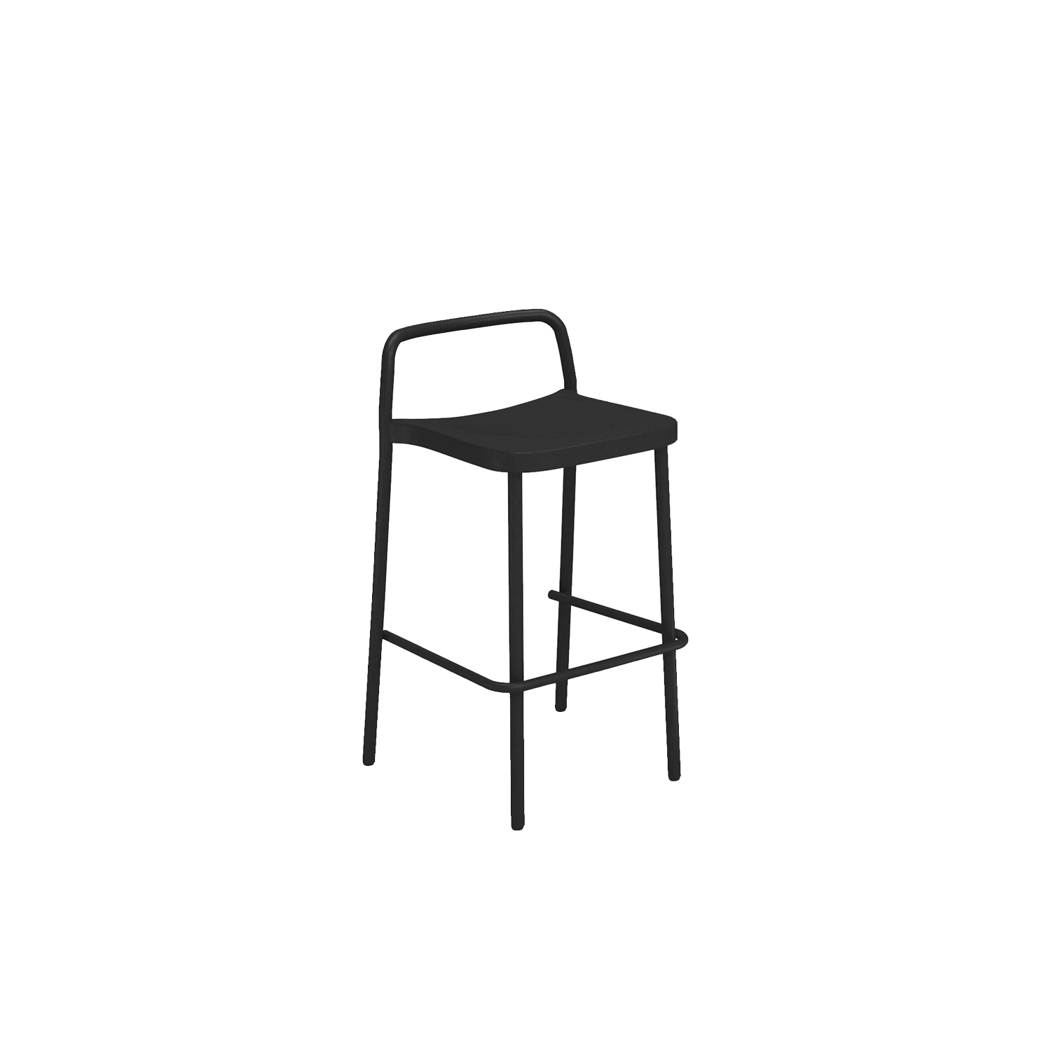 Grace Barstool - Set of 2 - Originating from a collaboration with the designer Samuel Wilkinson, Grace is a collection with an essential, vintage, timeless style, well-suited both outdoors and indoors to create a distinctive retro atmosphere. The Grace collection is made up of a chair, armchair and table, together with a stool and counter table, all made entirely of aluminum. The minimalist, design makes for asophisticated,elegantcollection.  | Matter of Stuff