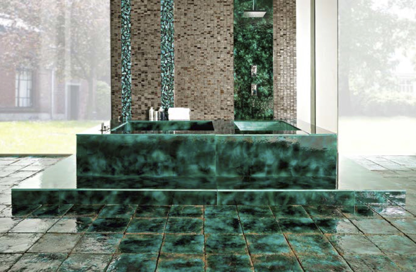 Square Cotto Tiles Green