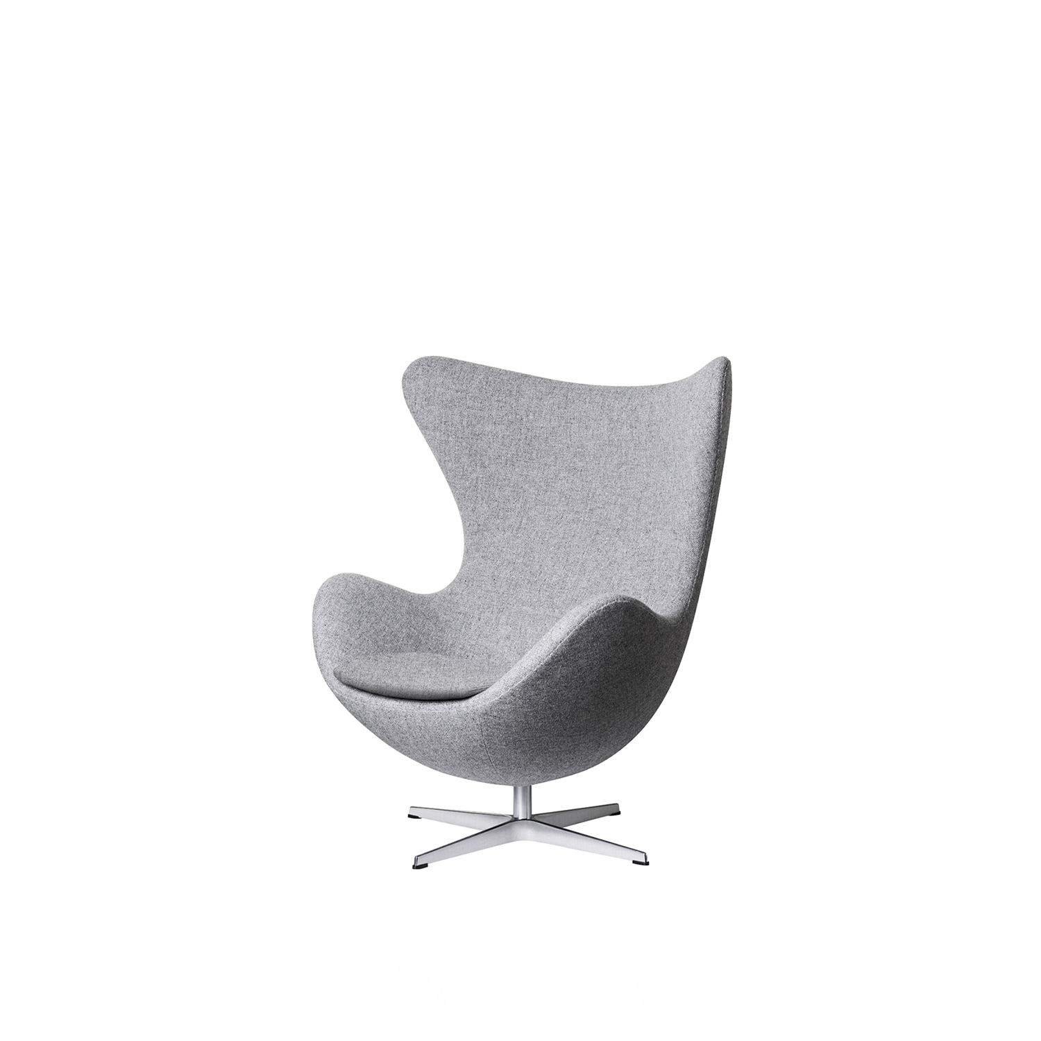 Egg Lounge Chair - Experience originality and timeless design with the Egg in fabric and indulge in its sculptural curves that will last for generations. When Arne Jacobsen in the end of the 1950s designed the SAS Royal Hotel in Copenhagen, he too created the Egg, the Swan, the Swan Sofa, the Series 3300 and the Drop.