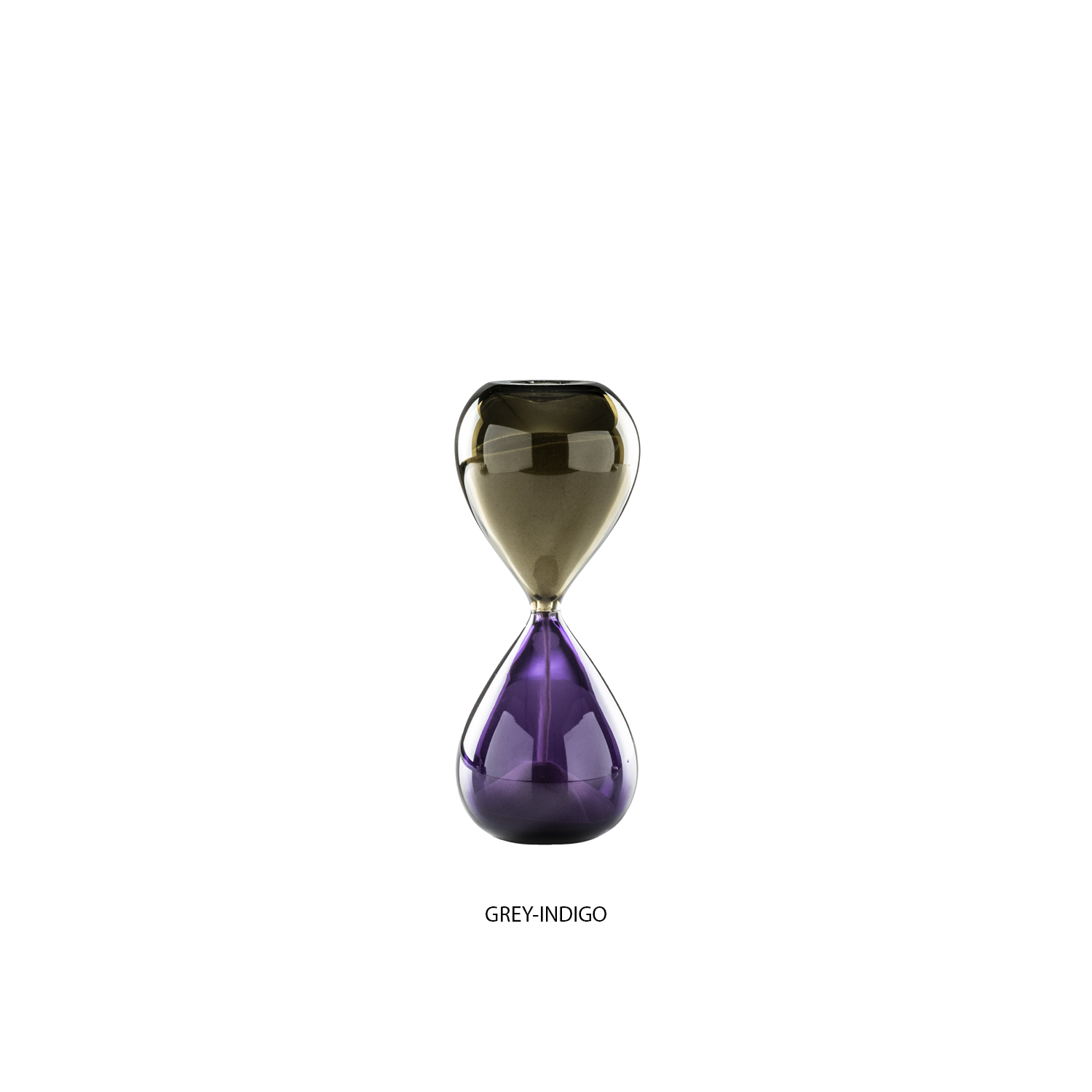 "Clessidre Hourglass - This elegant hourglass combines the Venetian glass tradition and a contemporary aesthetic. Handcrafted of mouth-blown glass with the ""incalmo"" technique, the two bulb-shaped elements are welded together when the glass is still hot.