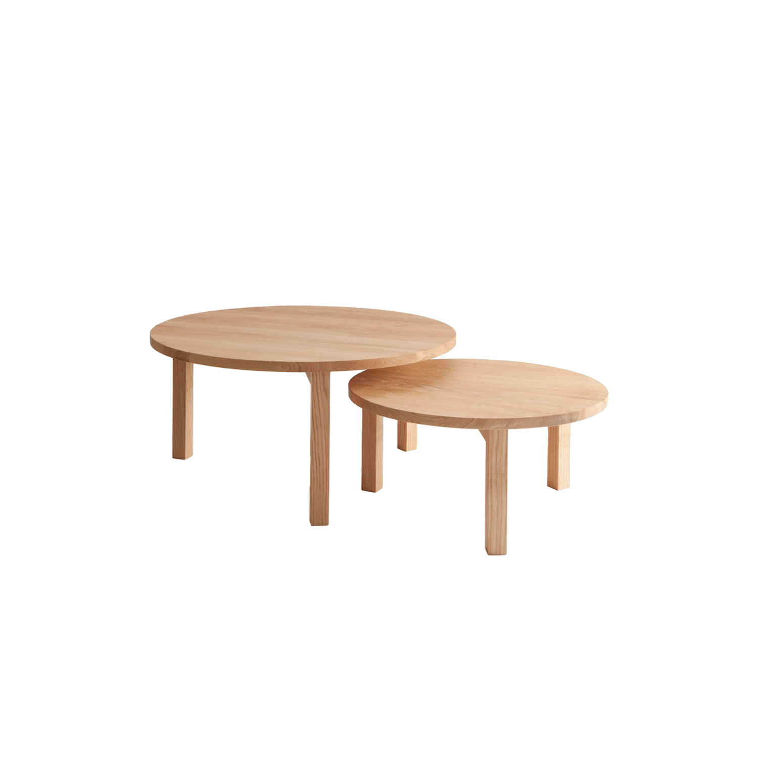 Periferia Coffee Table - Two heights and unique surfaces of solid wood are the characteristics of this table. It can be used both in highly commercial surroundings, as well as private homes. Available in two sizes in birch, ash or oak with an oiled finish.   | Matter of Stuff