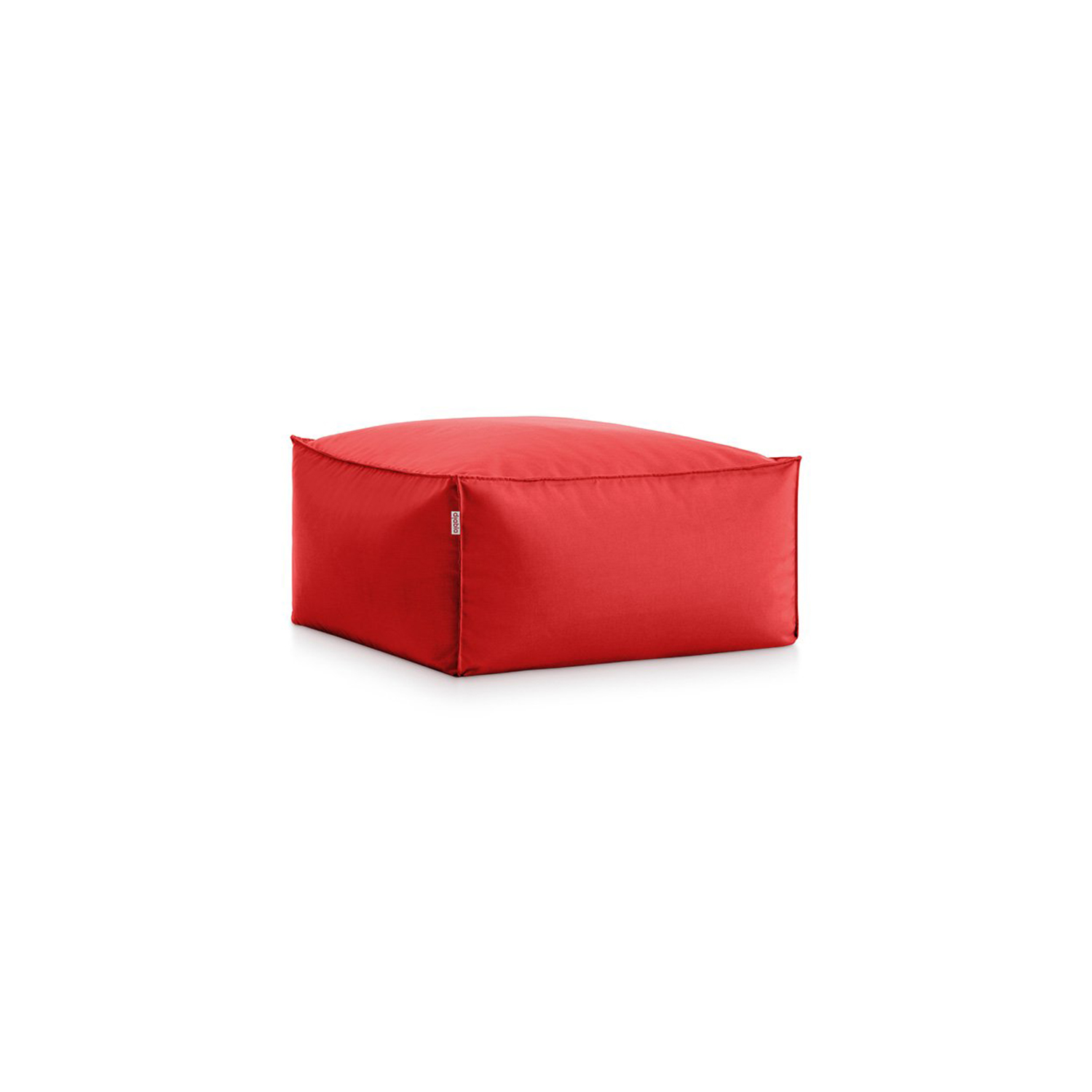 Sail Square Pouf - This is the pouf in our Sail collection, a set of furniture consisting of two designs for a laid-back atmosphere that can be used together or separately. This outdoor pouffe can be used on its own as a seat, but also as a footrest or even as a side table for the Sail armchair. Two incredibly comfortable, soft seats because they're filled with polystyrene beads that move around and intuitively adapt to the human figure.