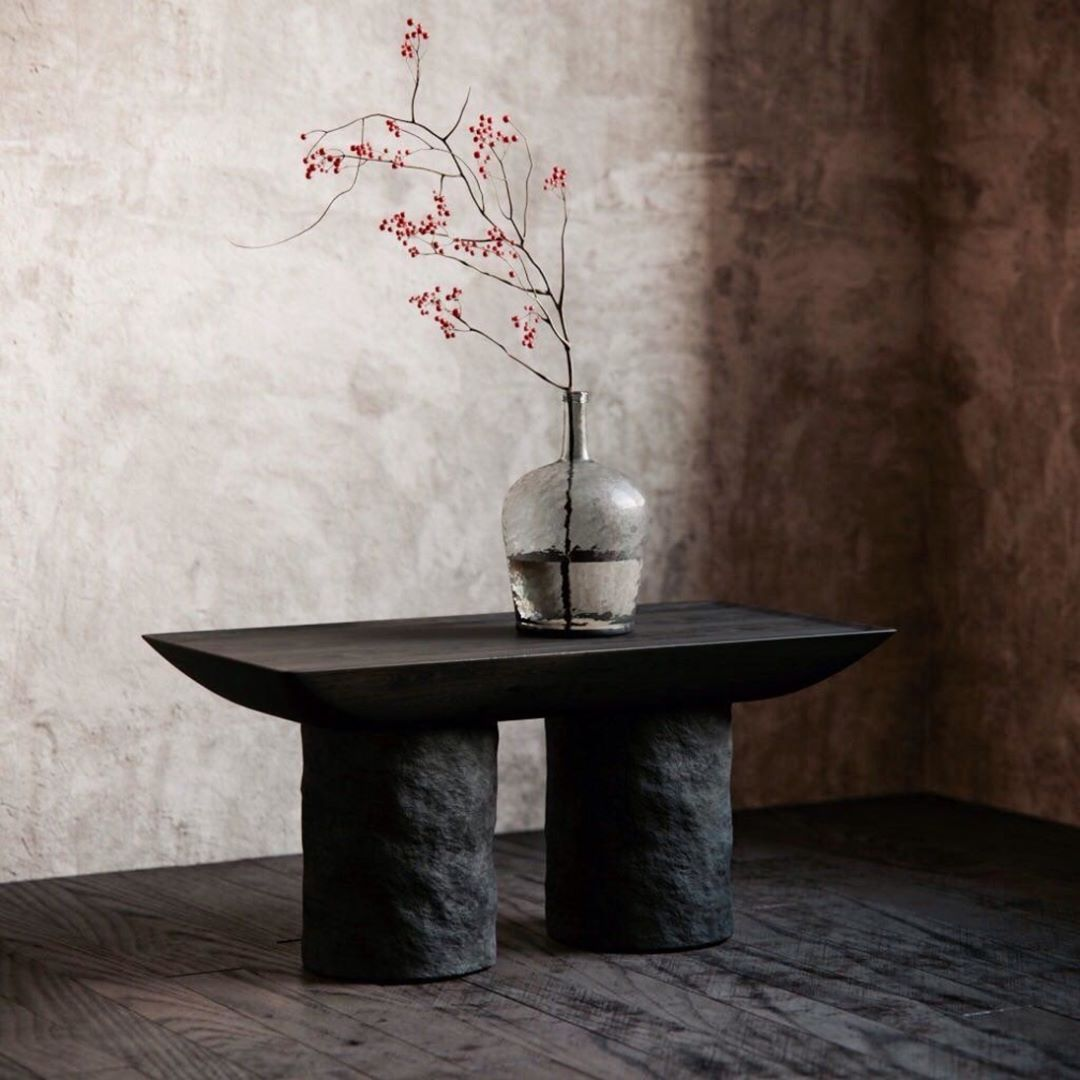 """Korotun Coffee table - <p>Almost a cave-like, """"carved in stone"""", minimalist coffee table with strong sturdy character - bold emphasis for a modern interior.<br /> This coffee table is available in two size modifications.</p>  