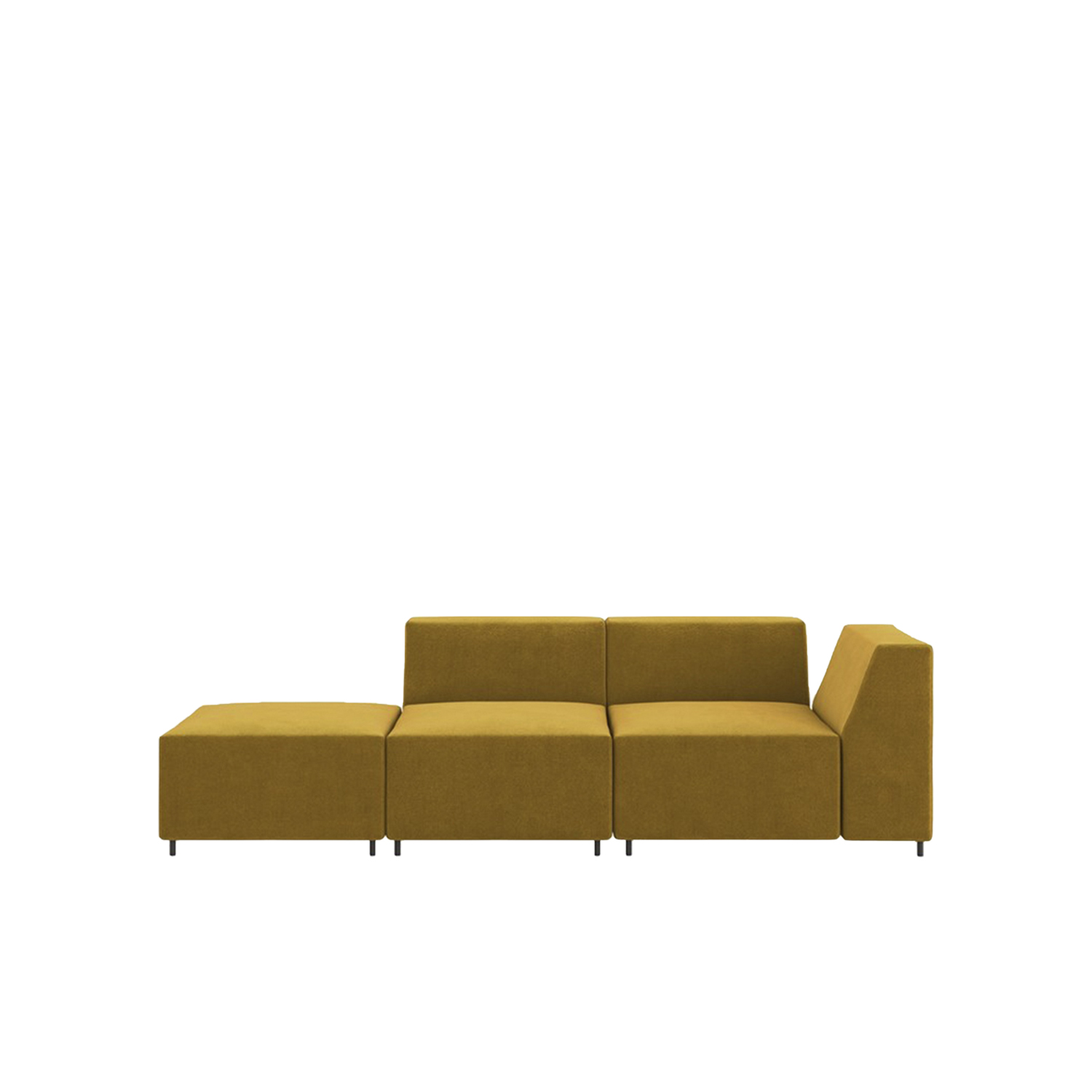 Quadro Sectional Sofa - Quadro is a modular system which enables the formation of sofas, armchairs and ottomans in a variety of combinations and dimensions addressing the needs of any space or environment with simplicity and comfort for large and small spaces.‎ All covers are removable.‎ | Matter of Stuff