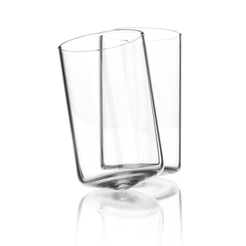 Dizzy Shot Glasses - Shot glasses that make your head spin. The gently conical base gives Dizzy a charming tospy-turvey effect. A gentle 'ping' sounds as they turn and touch. Although intended for spiritsDizzy can also be used for serving expresso coffee or verines. Packed and sold singly.  | Matter of Stuff