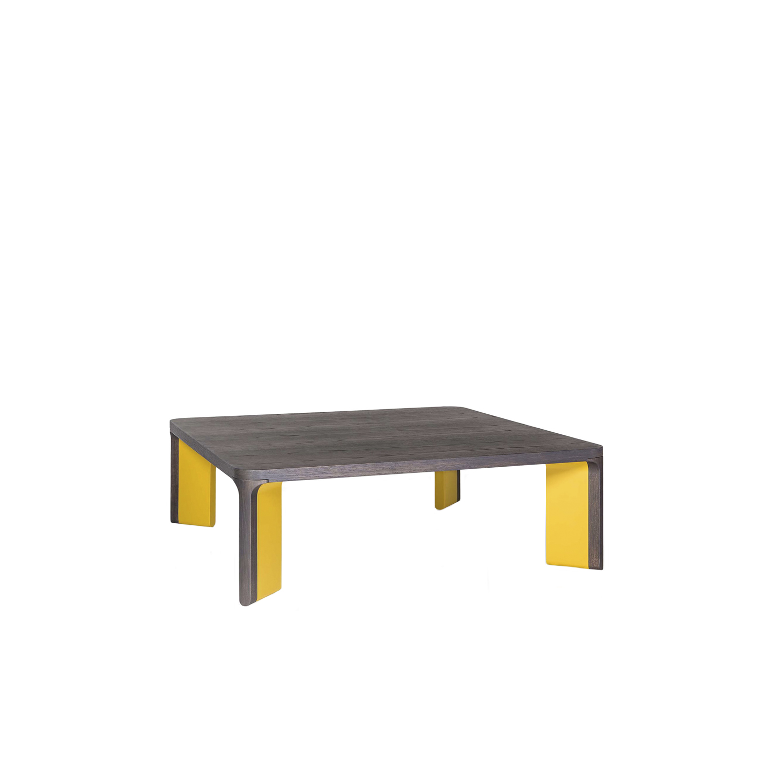 Acro-bat 007 Low Table - Low table in various sizes with round corners. Top in wood and legs in two sections in wood and lacquer.  | Matter of Stuff