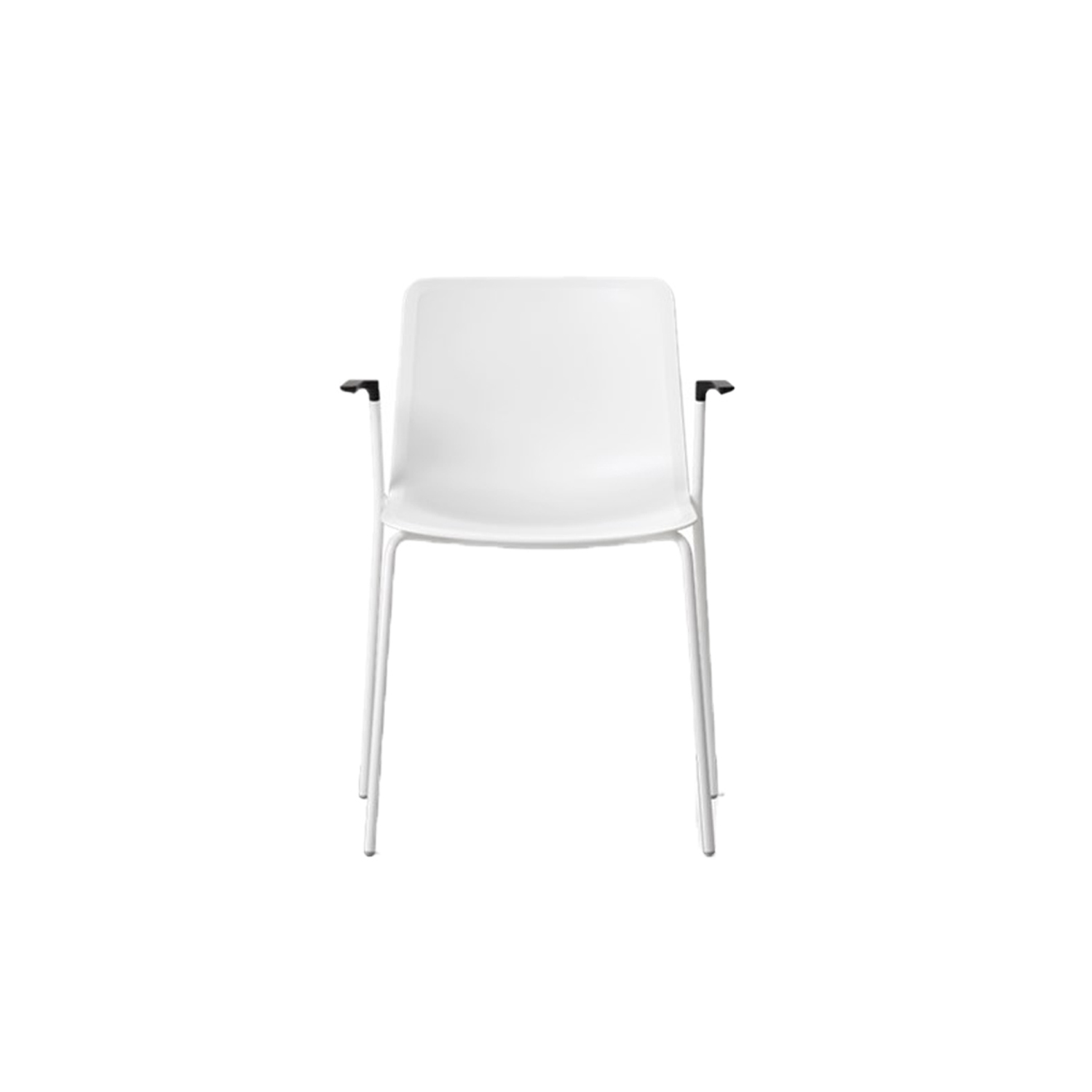 Pato 4 Leg Tube Base Armchair Seat Upholstered - Pato is a carefully crafted multipurpose chair in eco-friendly polypropylene that can be used outdoors. The chair is available with a range of optional features including coupling. The chair can be tuned from basic to exclusive with optional upholstery.  Pato is a prime example of our focus on sustainability and protecting the environment, reflected in a chair that's 100% renewable and recyclable. All components can be incorporated into future furniture production, thus contributing to a circular economy by minimising the use of materials, resources, waste and pollution.   Merging traditional production methods with cutting-edge technology, Pato is a human-centric, highly versatile series of multi-purpose functional furniture that draws on our in-depth experience with materials, immaculate detailing and heritage of fine craftsmanship. Allowing us to apply our high standards of texture, finish and carpentry techniques to an array of materials in addition to wood for products aimed at a mass market.   With its clean lines and curves, Pato echoes the ethos of Danish-Icelandic design duo Welling/Ludvik. Demonstrating their belief that good design has the ability to be interesting, even when reduced to its most simple form. Where anything extraneous is eliminated and every detail has a purpose.   Together we spent nearly three years developing the shell structure to have a soft surface that's also wear and tear resistant. Enhancing the chair's ability to optimally conform to the user's body is a subtle beveled edge. A technique from classic cabinetmaking, which gives the chair a sense of handcrafted finesse. Each Pato is detailed and finished by hand by our highly skilled crafts people, who refine the beveled edge and the silky, resilient surface. Setting a new standard for the execution and finish of polypropylene.   Since the success of its initial launch, we've expanded Pato into an extensive collection of variants, fea
