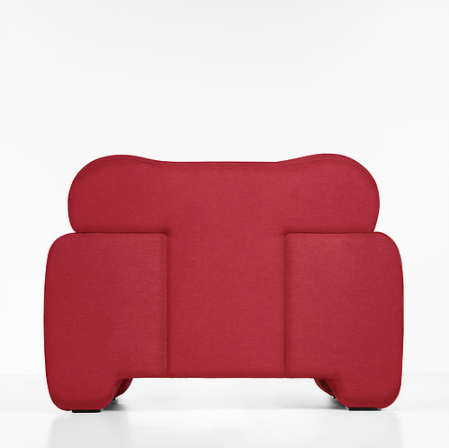 """Pampukh Armchair - """"Pampukh"""" in Ukrainian means traditional round fluffy bun. Unusual lines of the PAMPUKH series are ideally combined with the volumetric silhouette of furniture. PAMPUKH armchair seems to melt beneath you, enveloping calm and comfort.</p>  